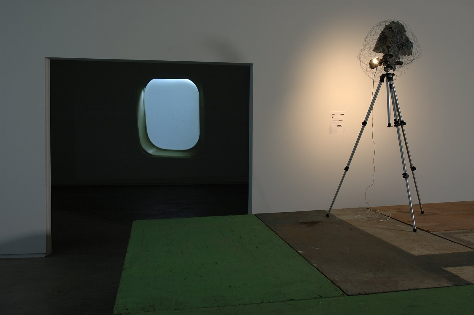 Geoffrey Farmer, installation view, Airliner Open Studio, Catriona Jeffries, 2006 by Geoffrey Farmer