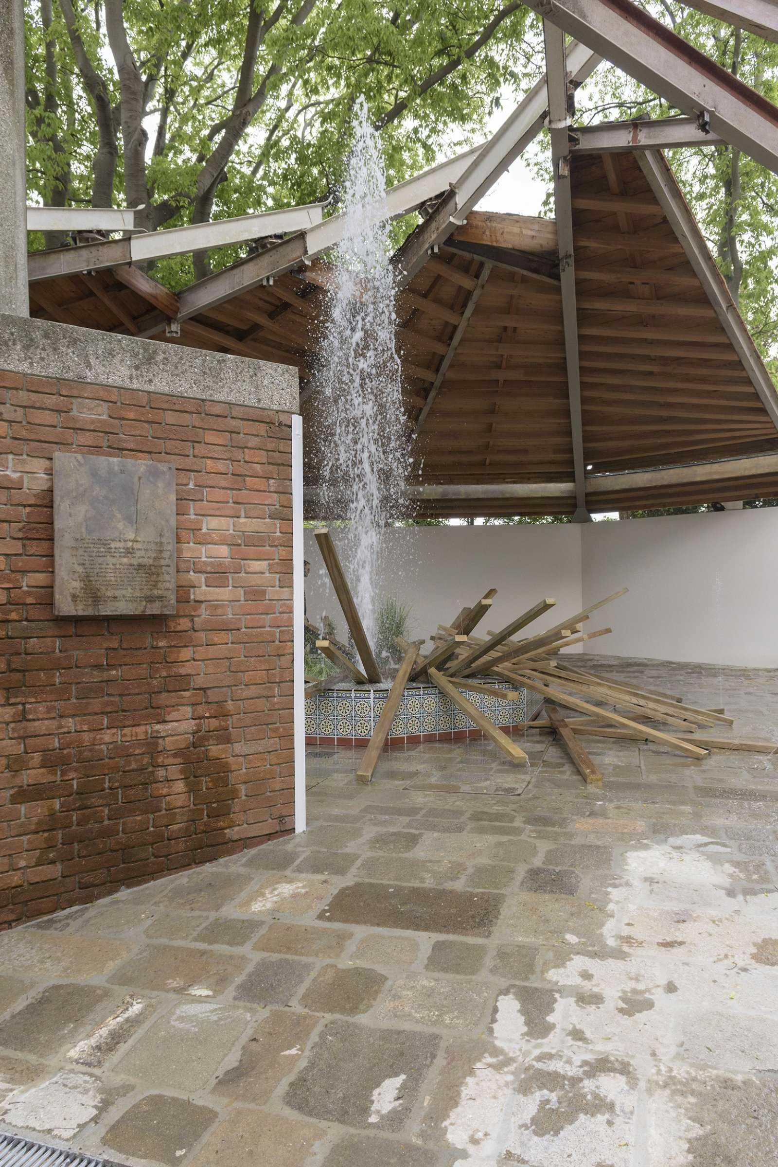 Geoffrey Farmer, installation view, A way out of the mirror, Canada Pavilion, 57th Venice Biennale, Venice, Italy by Geoffrey Farmer