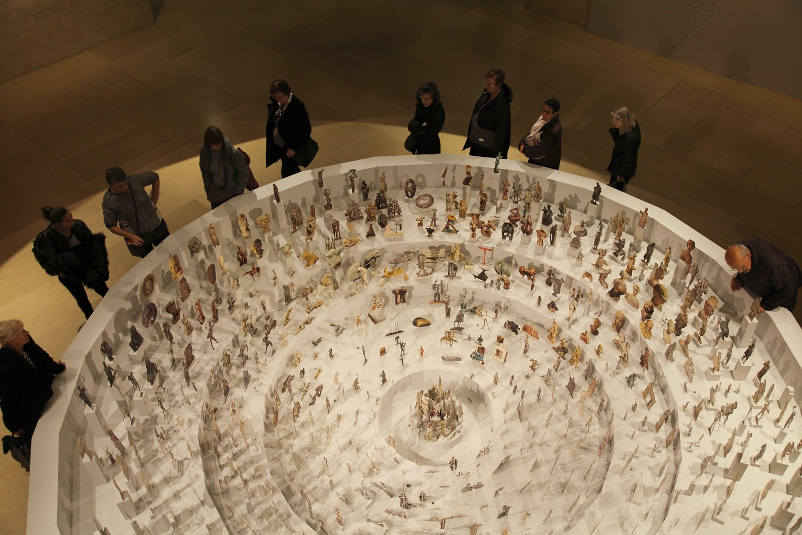 Geoffrey Farmer, Boneyard, 2013, paper cutouts, wood, glue, dimensions variable. Installation view, A Brief History of the Future, Musée du Louvre, Paris, 2015 by Geoffrey Farmer