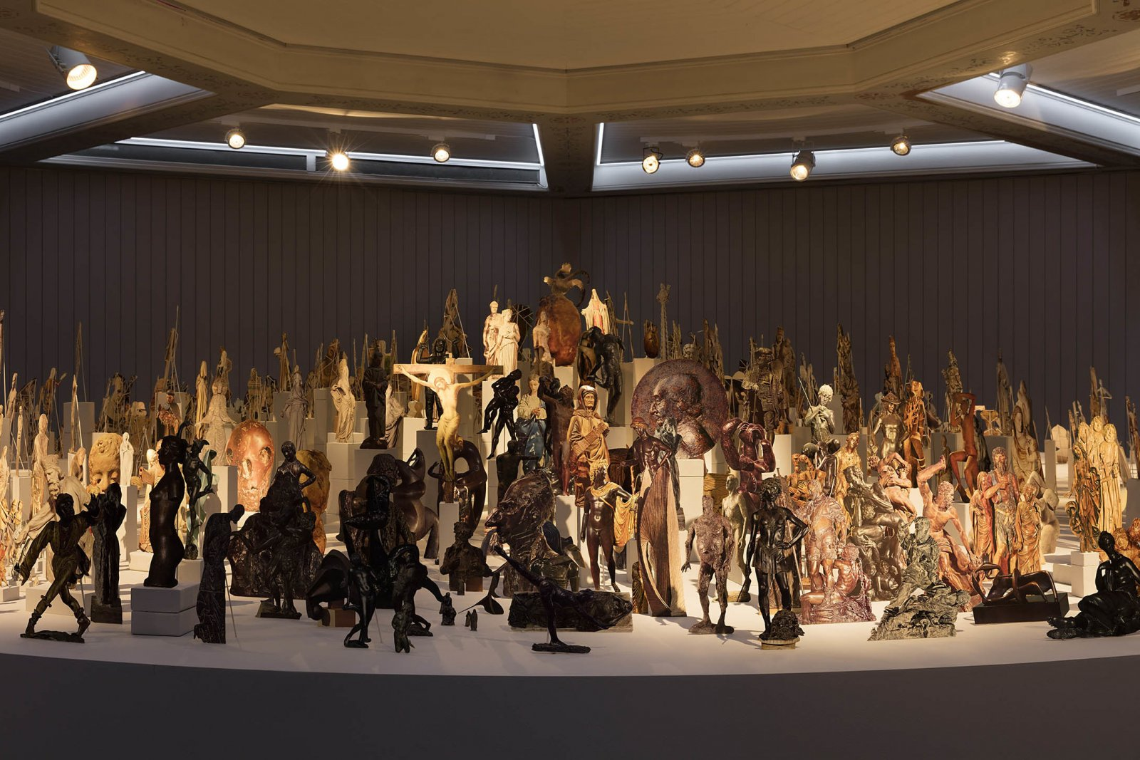 Geoffrey Farmer,Boneyard(detail), 2013, paper cutouts, wood, glue, dimensions variable. Installation view,The Care With Which The Rain Is Wrong, Schinkel Pavillon, Berlin, Germany,2017