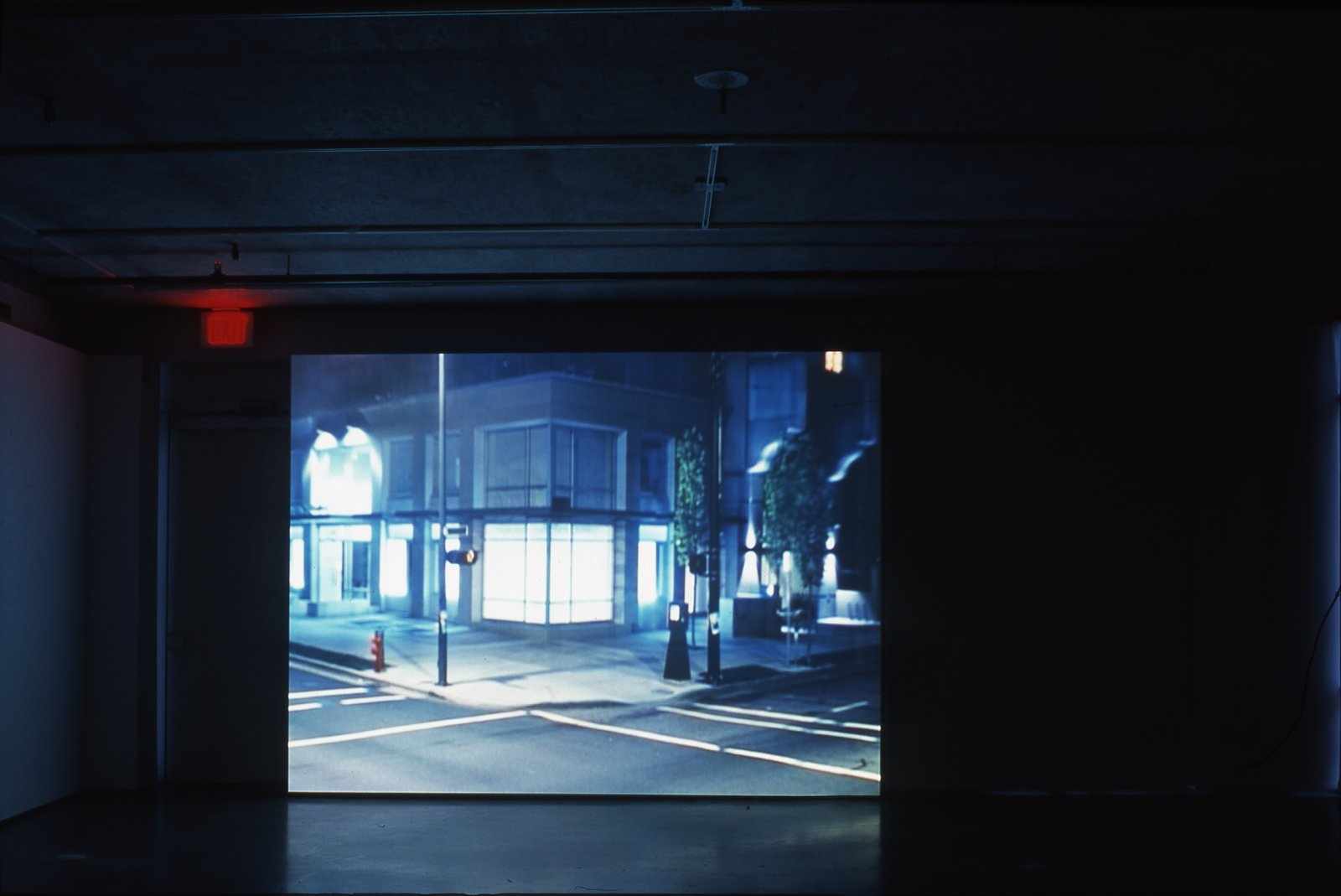 Geoffrey Farmer, Box with the Sound of its Own Making, 2002, looped DVD projection, 17 minutes, 10 seconds