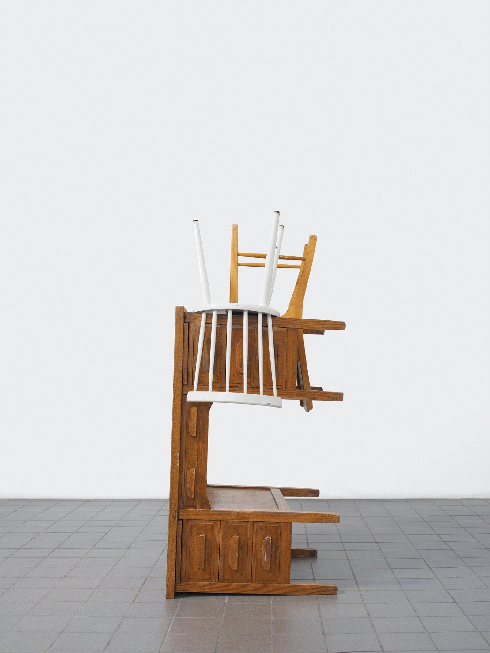 Geoffrey Farmer, Cage Work (Pale Fire Freedom Machine), 2005, lightjet (endura archival photo paper), 50 x 38 in. (126 x 97 cm)