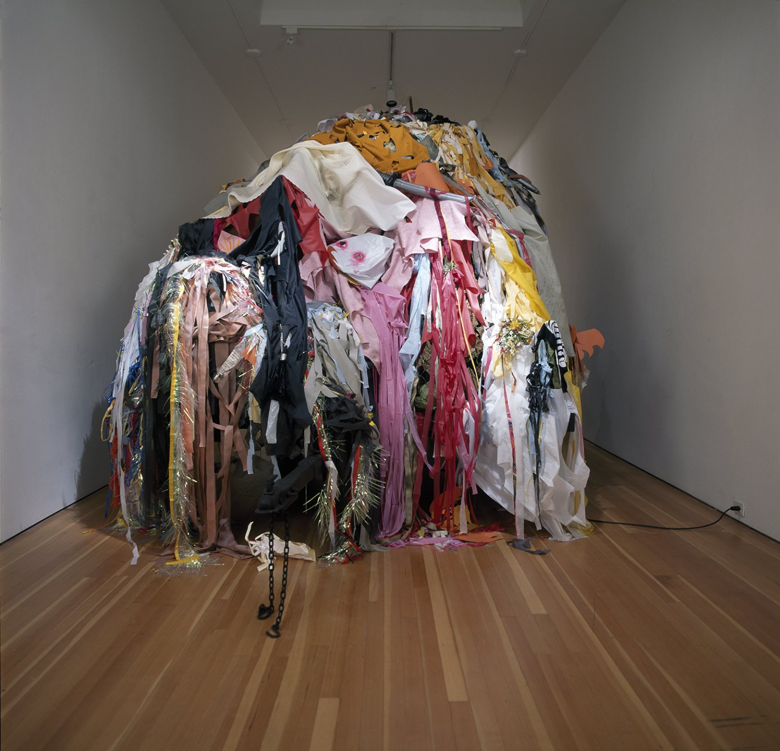 Geoffrey Farmer, Every surface in someway decorated, altered, or changed forever (except the float), 2004, mixed media, dimensions variable