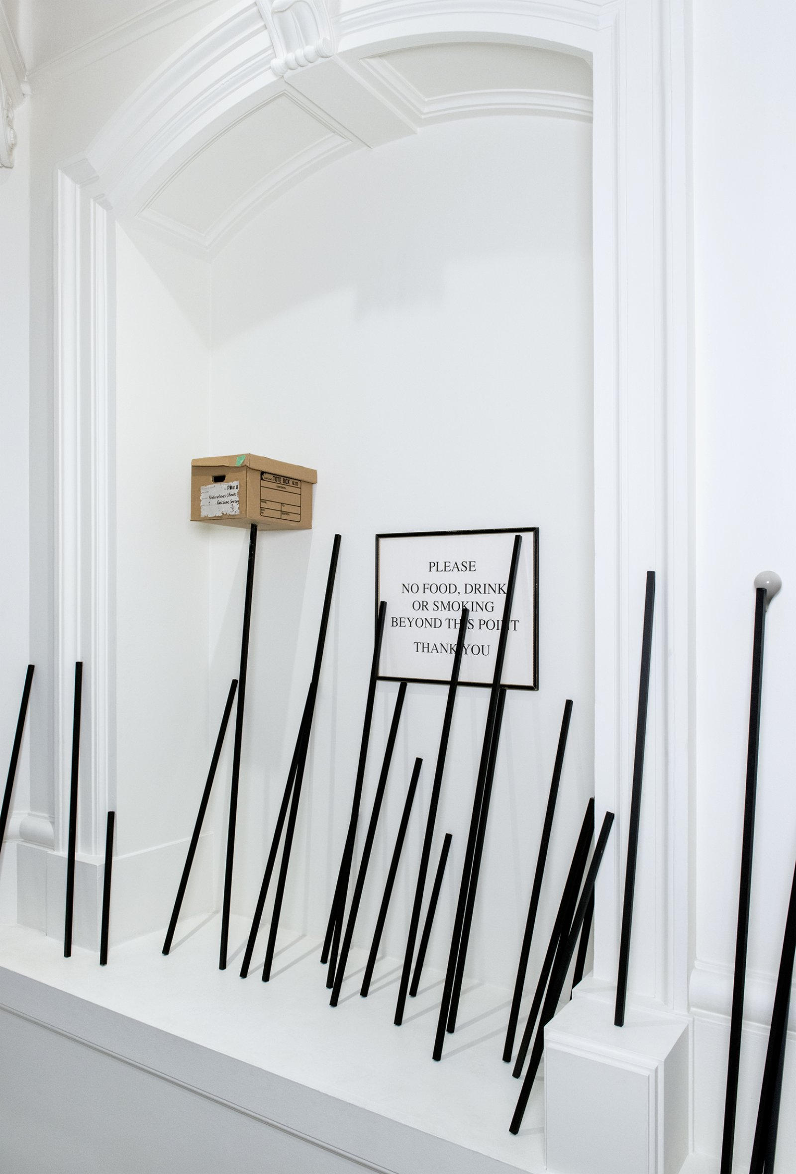 Geoffrey Farmer, Four Frankensteins, 2015, mixed media, dimensions variable. Installation view, How Do I Fit This Ghost in My Mouth?, Vancouver Art Gallery, 2015 by Geoffrey Farmer
