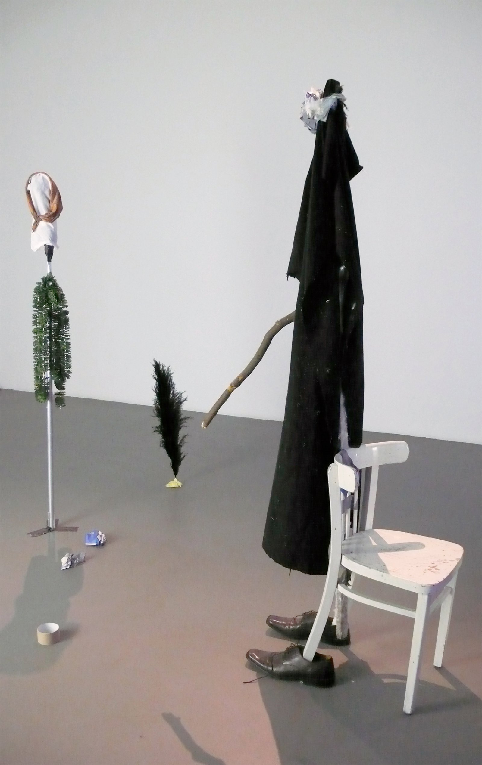 Geoffrey Farmer, I know what it is like to fall from Forgetting Air (Slow Play), 2008, mixed media, dimensions variable by Geoffrey Farmer