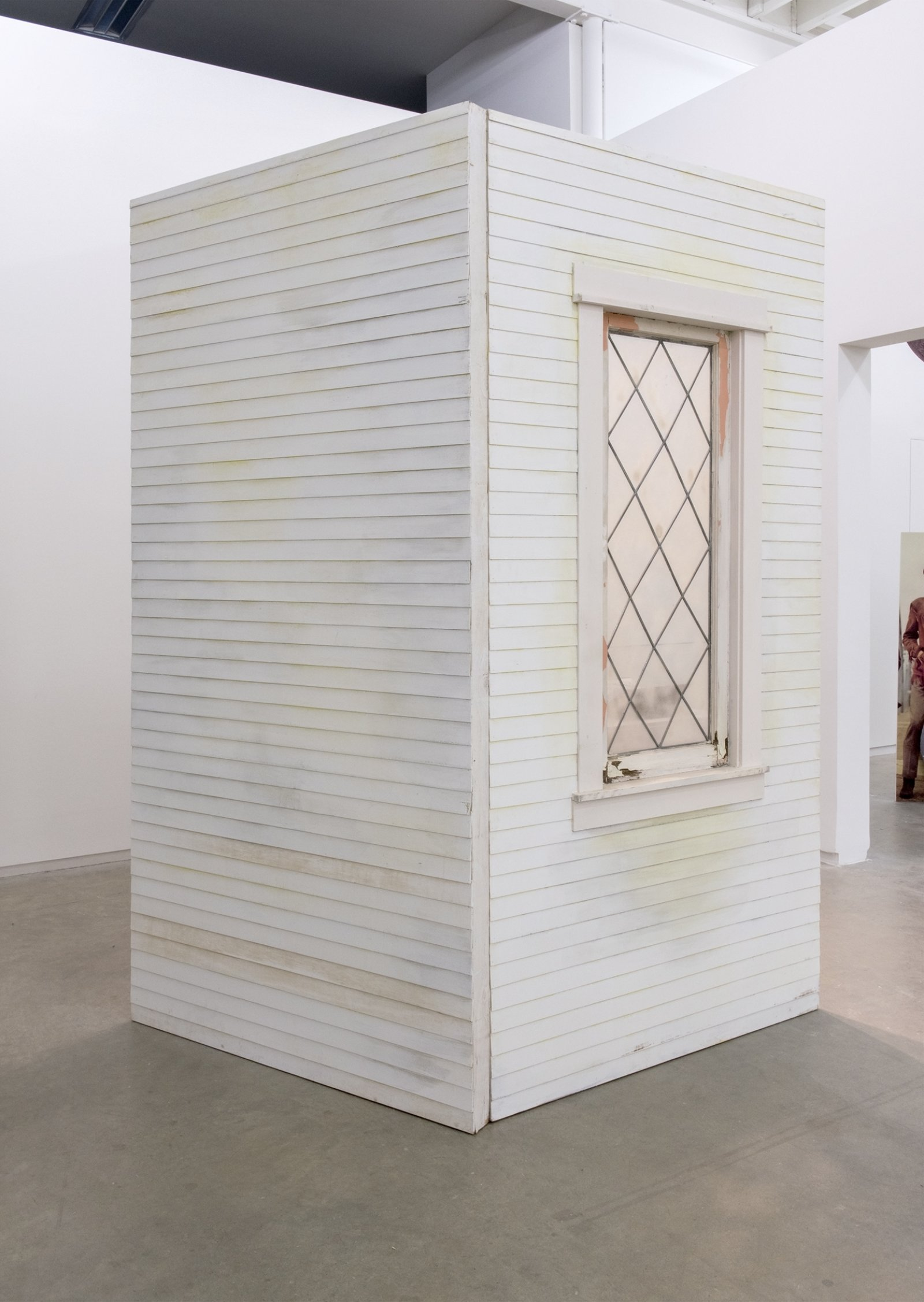 Geoffrey Farmer, Journals with Norman Bates (Fountain), 2014, vitrine with 8 cut-outs collaged on foamcore, 2 wooden wall façades, paint, window, sandbags, framed cut-outs and ink mounted on paper, dimensions variable by Geoffrey Farmer
