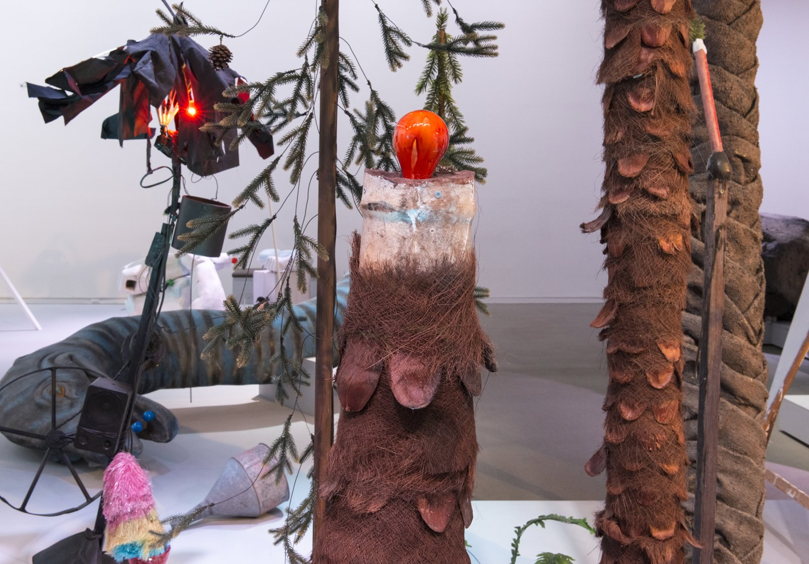 Geoffrey Farmer, Let's Make The Water Turn Black, 2013, mixed media, dimensions variable. Installation view, How Do I Fit This Ghost in My Mouth?, Vancouver Art Gallery, 2015 by Geoffrey Farmer