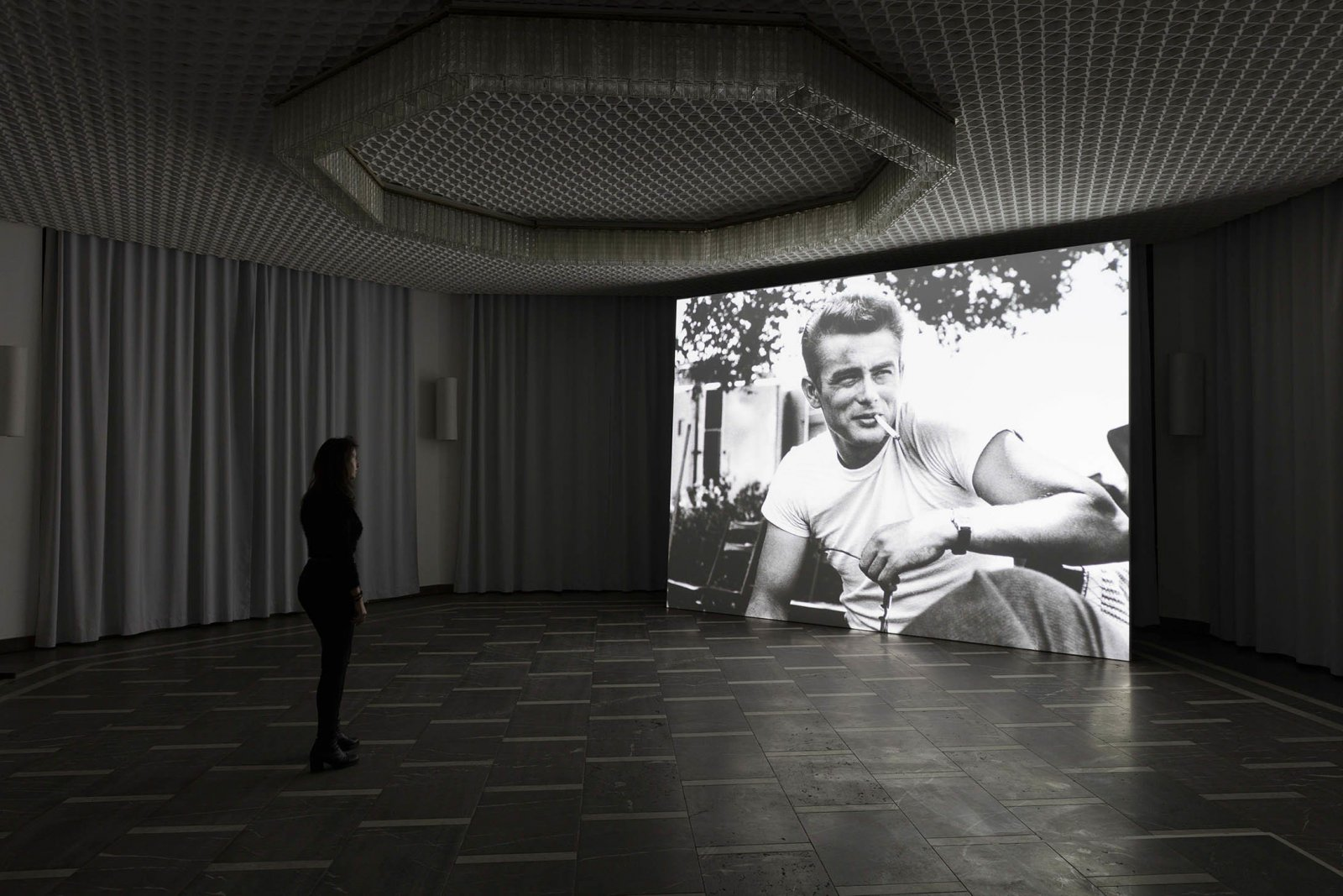Geoffrey Farmer,Look in my face; my name is Might-have-been; I am also called No-more, Too-late, Farewell, 2010–2014, computer-generated algorithmic montage sequence, dimensions variable. Installation view,The Care With Which The Rain Is Wrong, Schinkel Pavillon, Berlin, Germany, 2017