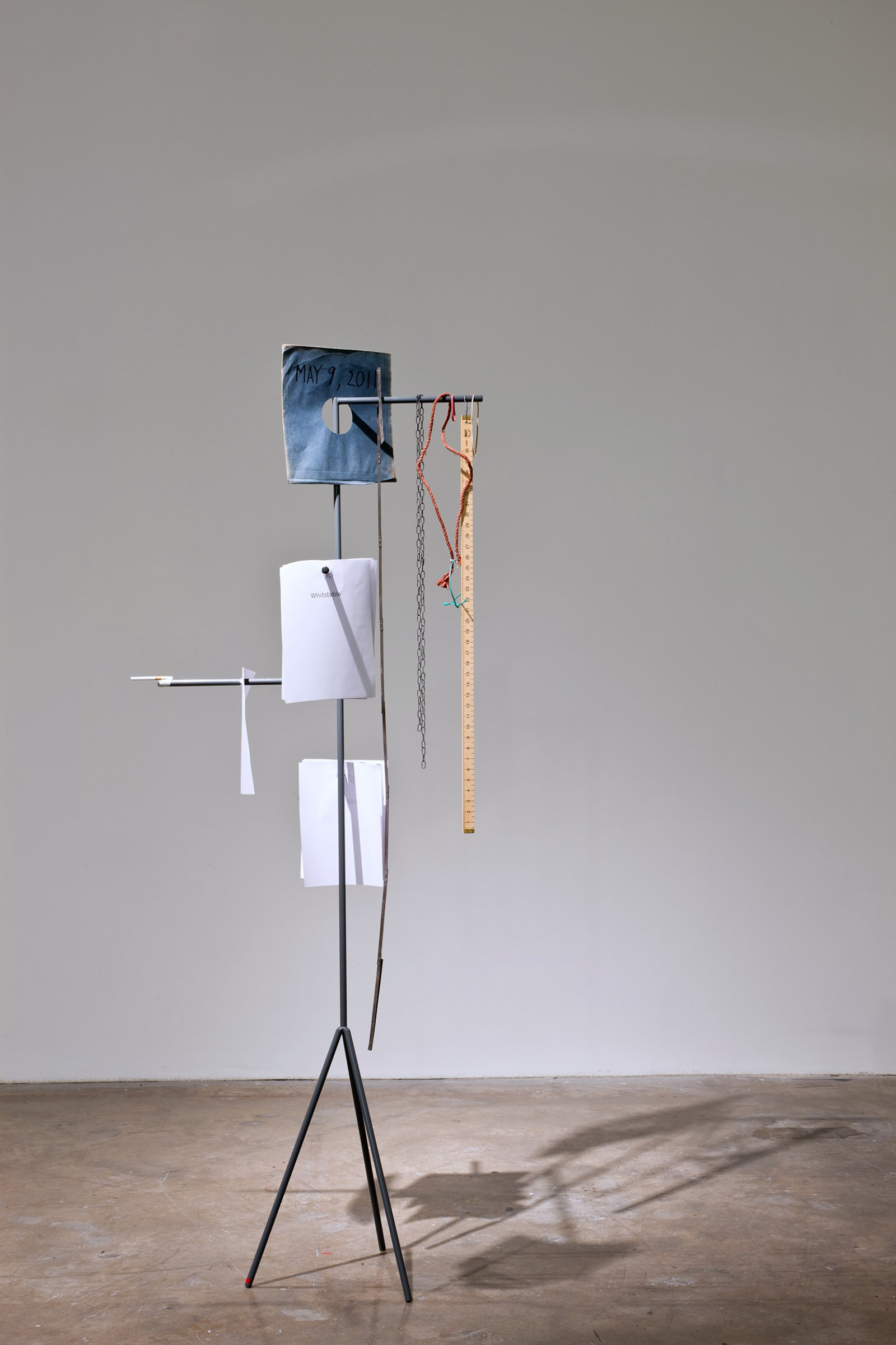 Geoffrey Farmer and Jeremy Millar,Mondegreen, 2011, variable components and dimensions. Installation view,Mondegreen, Projects Art Centre, Dublin, 2011