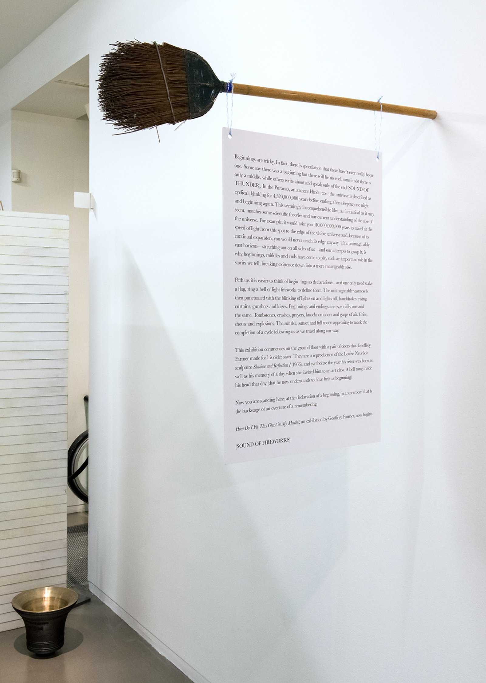 Farmer Storeroom Overture 2015 How Do I Fit This Ghost In My Mouth Vag 2015 Install 08 by Geoffrey Farmer