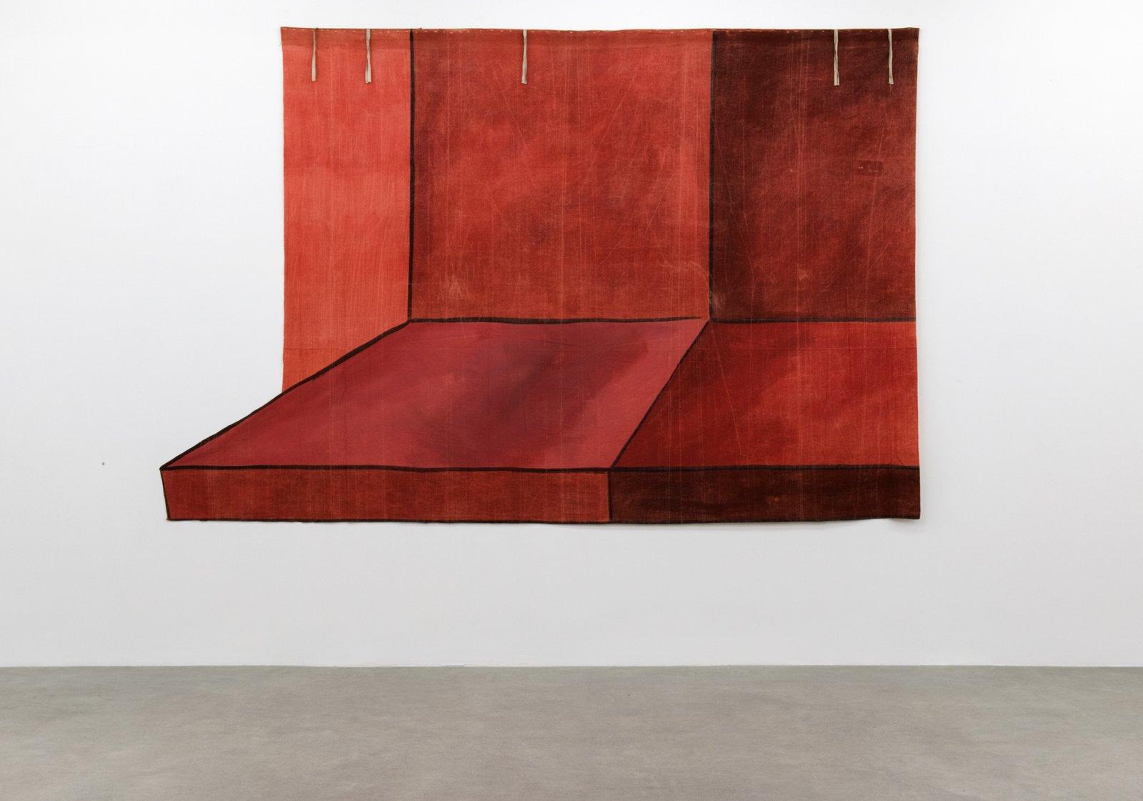 Geoffrey Farmer, THEMSELVES, ITSELF SHELFSELF, 2017, theatre backdrop (1939), 119 x 180 in. (302 x 458 cm)