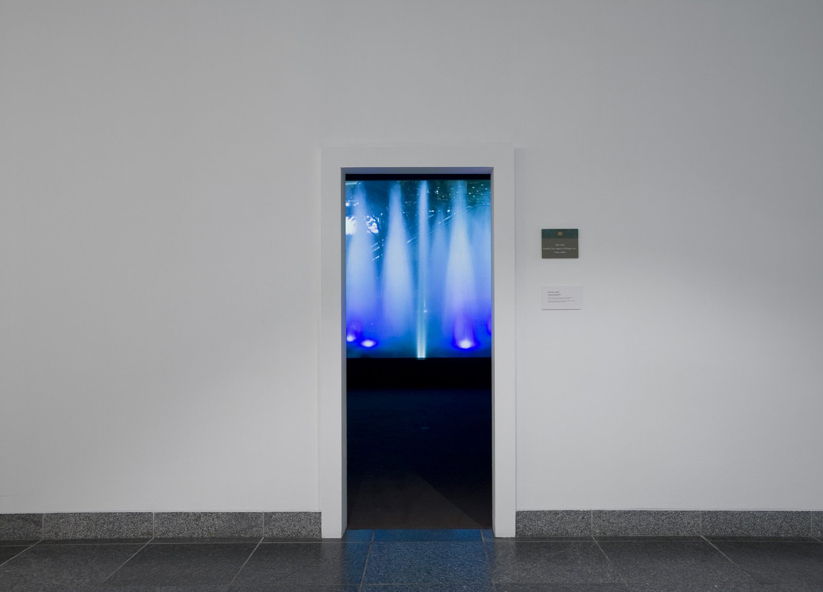 Geoffrey Farmer, The Fountain People, 2008, video projection, 10 minutes looped, handwritten text on paper, dimensions variable by Geoffrey Farmer