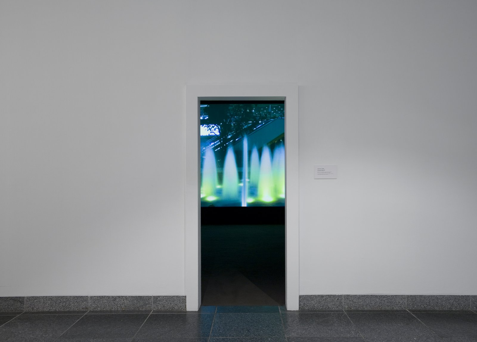 Geoffrey Farmer,The Fountain People, 2008, video projection, 10 minutes looped, handwritten text on paper, dimensions variable