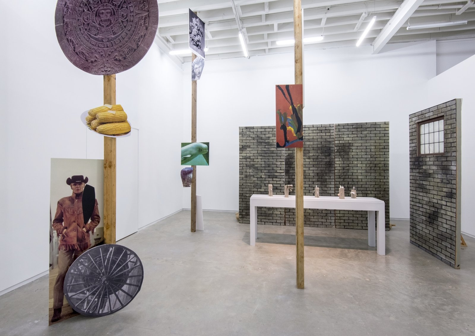 Geoffrey Farmer, installation view, The Grass and the Banana go for a walk, Catriona Jeffries, 2014​​ by Geoffrey Farmer