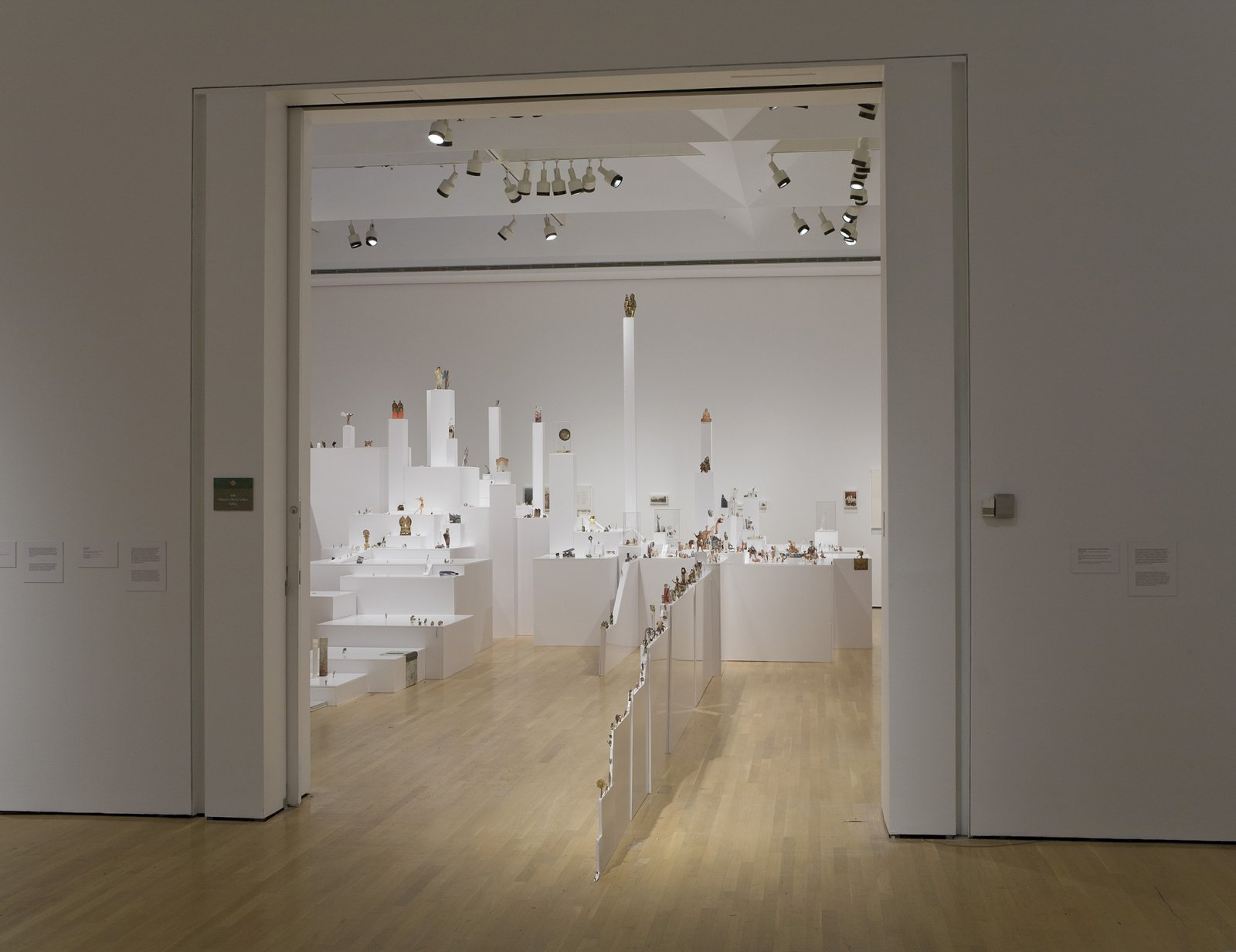 Geoffrey Farmer, The Last Two Million Years, 2007, foamcore plinths, perspex frames and cutouts from selected pages of the history book The Last Two Million Years, dimensions variable. Installation view, Musée d'art contemporain de Montréal, 2008 by Geoffrey Farmer