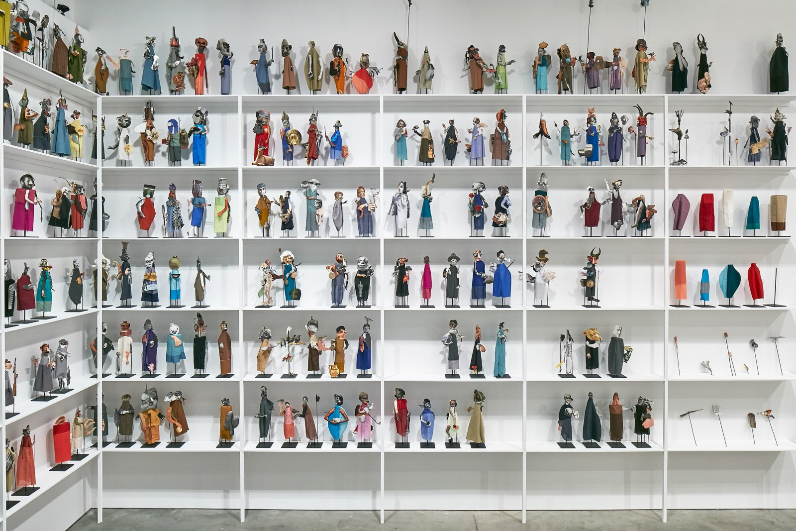 Geoffrey Farmer, The Surgeon and the Photographer, 2009, paper, textile, wood, metal, dimensions variable. Installation view, Institute of Contemporary Art, Boston, 2016 by Geoffrey Farmer
