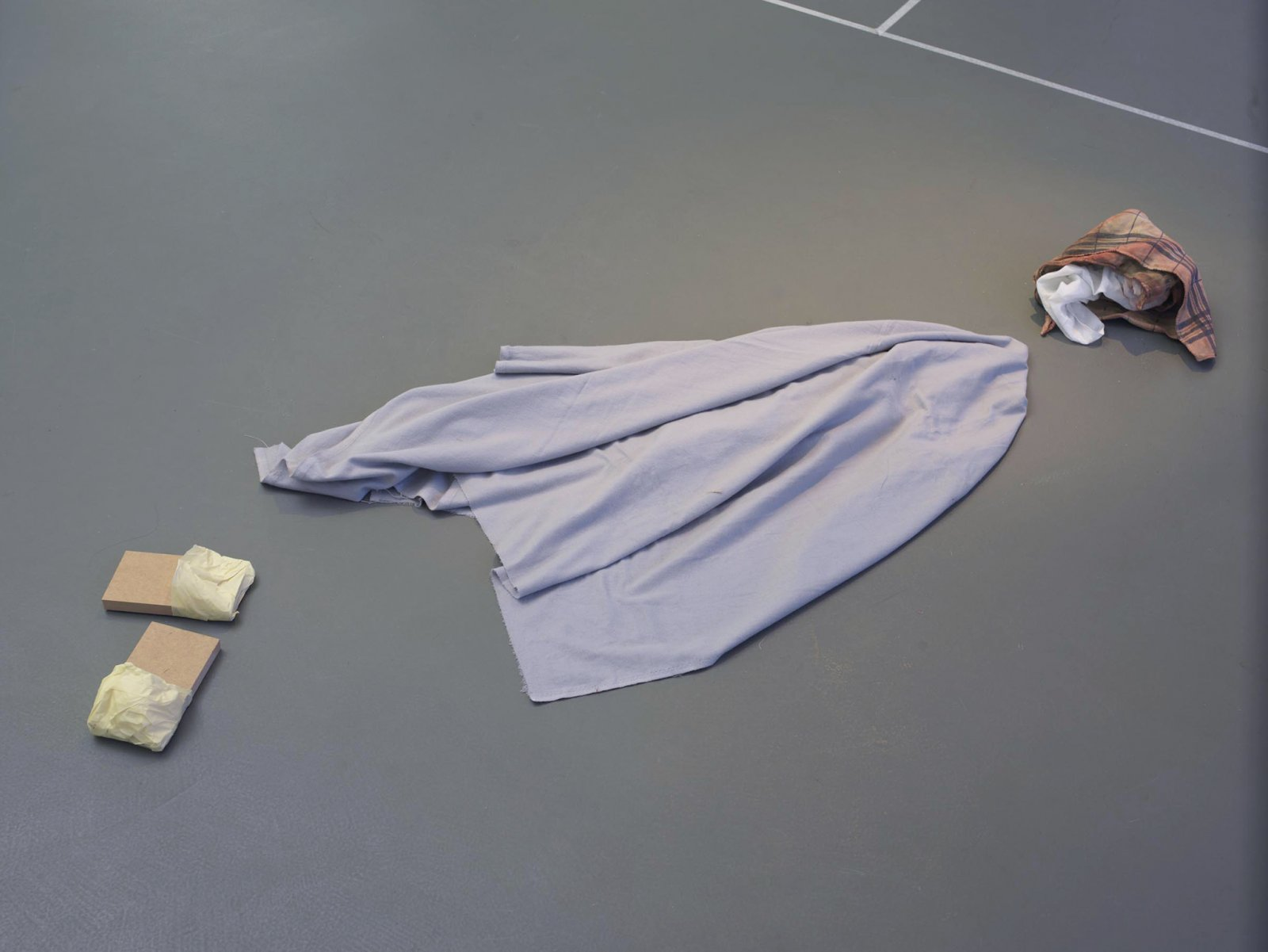 ​Geoffrey Farmer, Why Witches Can't Fly Proven Through A Simple Yet Precise Mathematical Equation from Forgetting Air (Slow Play), 2008, mixed media, dimensions variable by Geoffrey Farmer