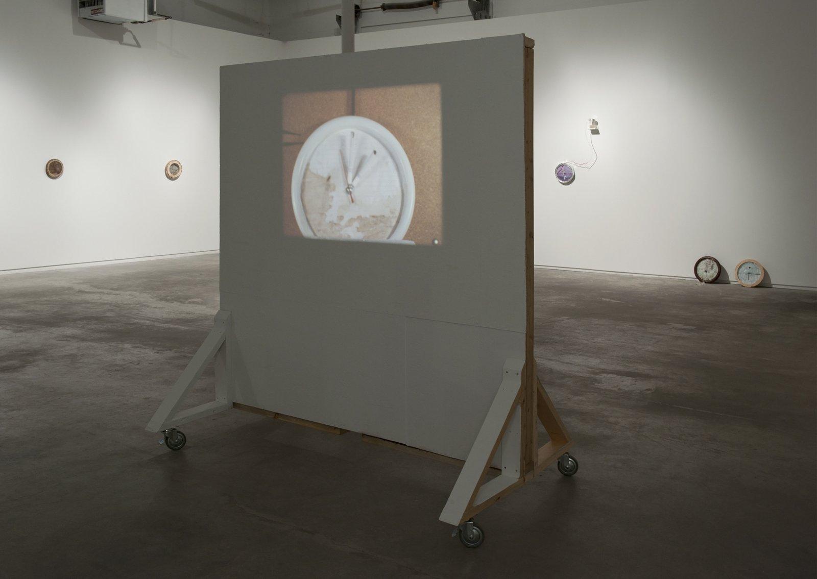 Julia Feyrer, Dailies, 2012, 16mm film loop, silent, 20 minutes, 79 x 72 x 44 in. (200 x 183 x 112 cm)