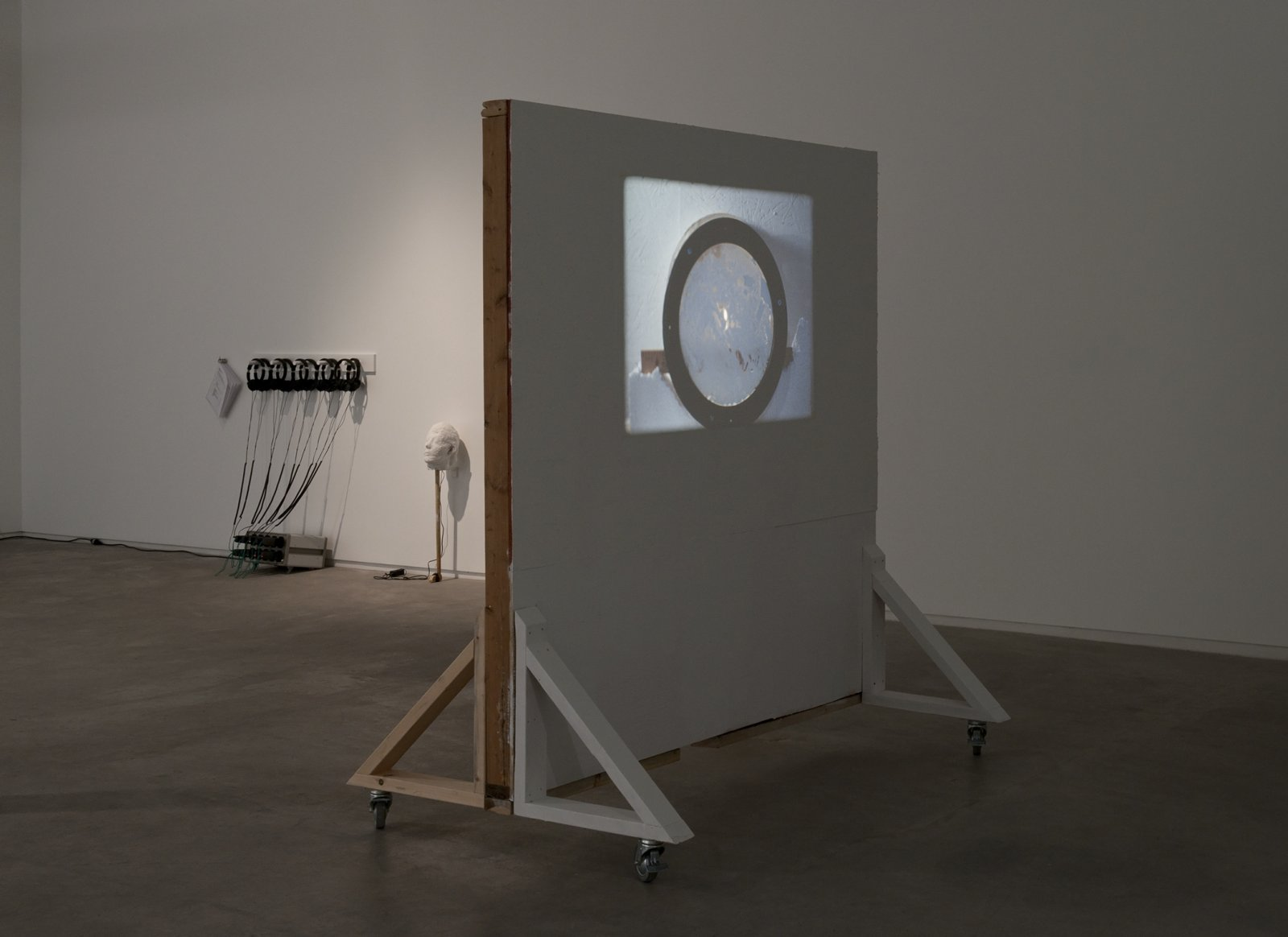Julia Feyrer, Dailies, 2012, 16 mm film loop silent, projection wall, 20 minutes, wall dimensions: 79 x 72 x 44 in. (200 x 183 x 112 cm) by Julia Feyrer