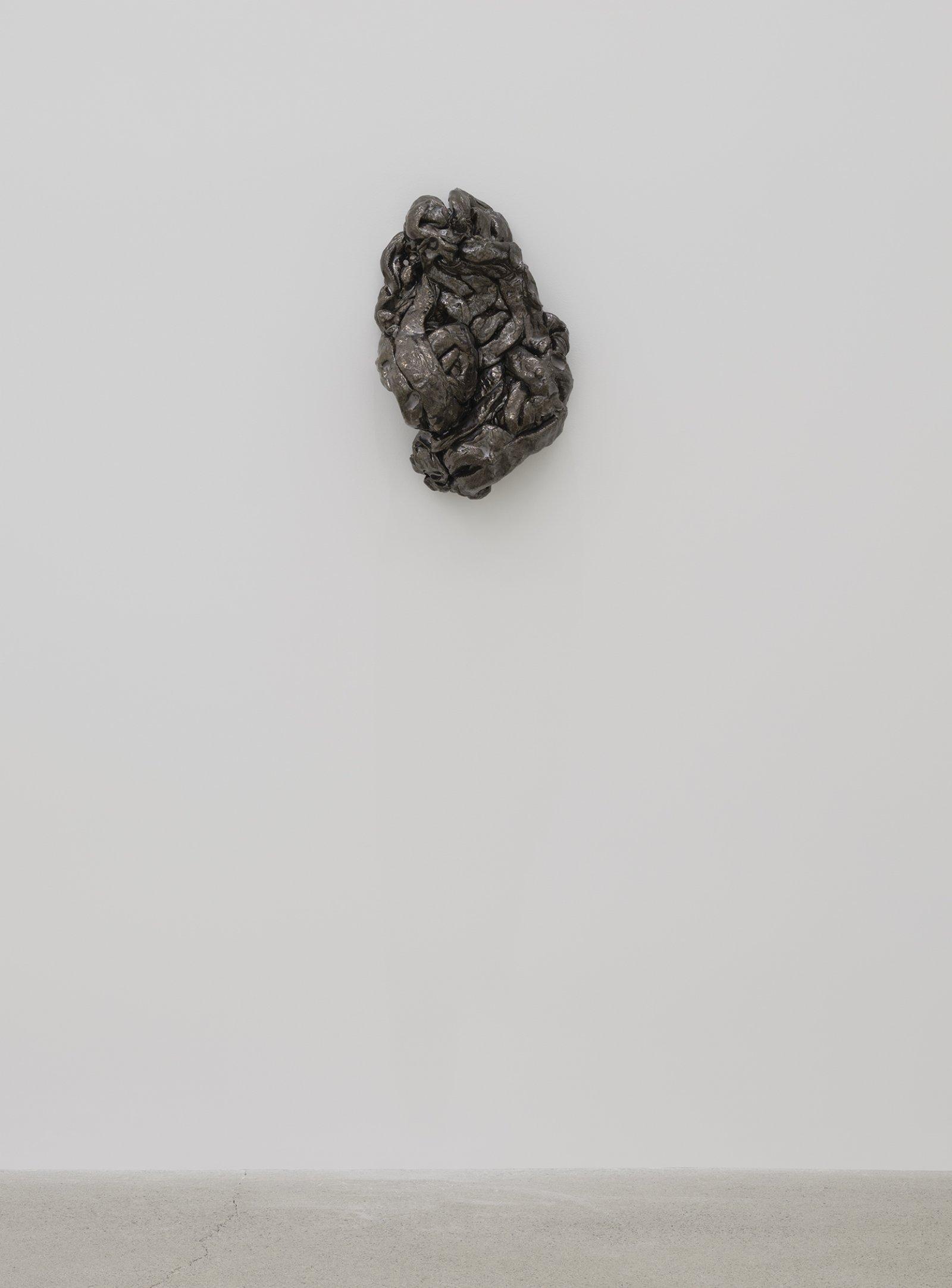 Rochelle Goldberg, Composite Contact II, 2019, glazed ceramic, nails, 18 x 12 x 7 in. (46 x 31 x 18 cm) by Rochelle Goldberg