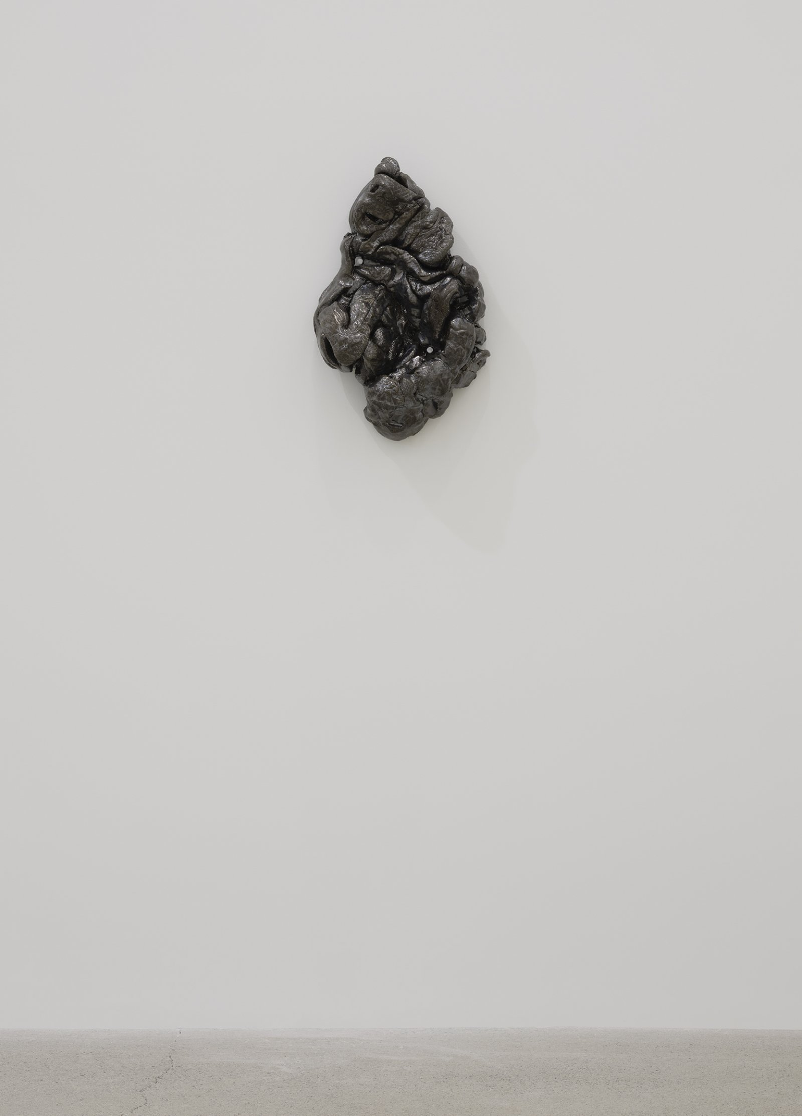 Rochelle Goldberg, Composite Contact I, 2019, glazed ceramic, nails, 17 x 11 x 6 in. (43 x 28 x 14 cm) by Rochelle Goldberg