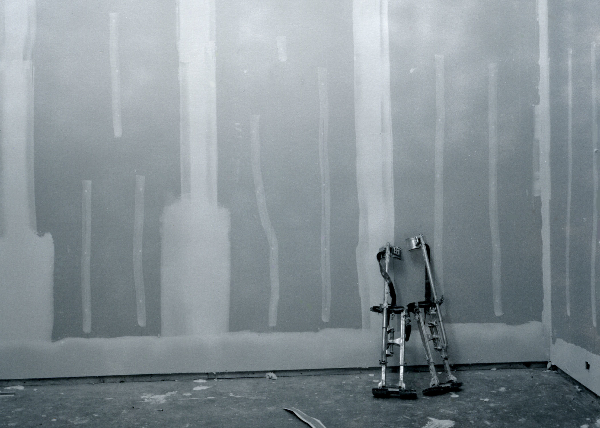 ​Arni Haraldsson, Stilts, 2006, black and white fibre print, 28 x 34 in. (71 x 86 cm) by