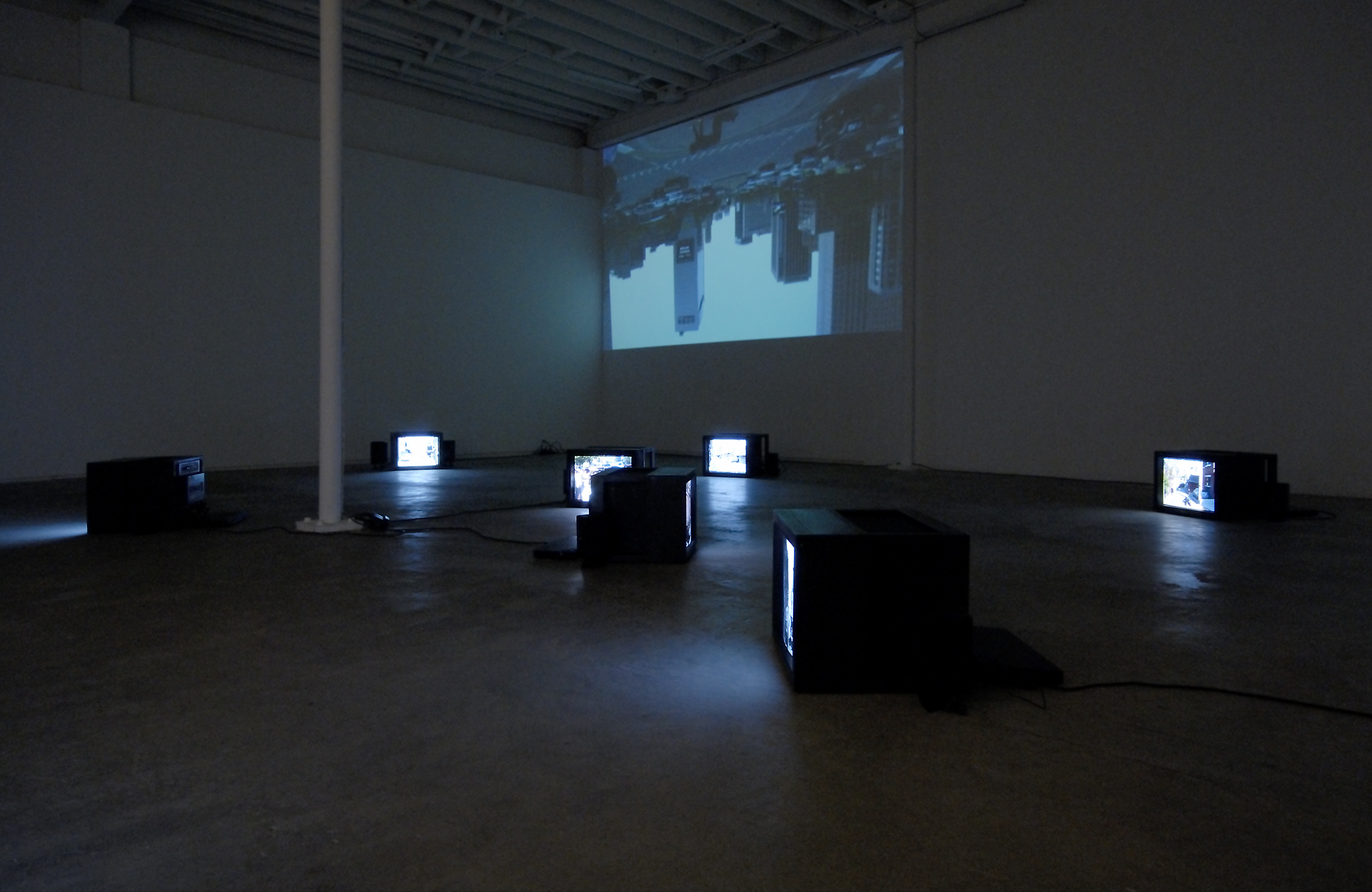 Jin-me Yoon, As It Is Becoming (Seoul, Korea), 2008, 12 HD single channel videos, video projection and 11 monitors, 9 minutes, 2 seconds by