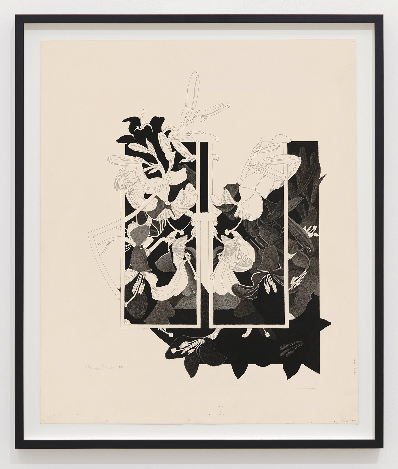 Charmian Johnson, not titled, 1980, ink and graphite on paper, 30 x 26 in. (76 x 65 cm) by