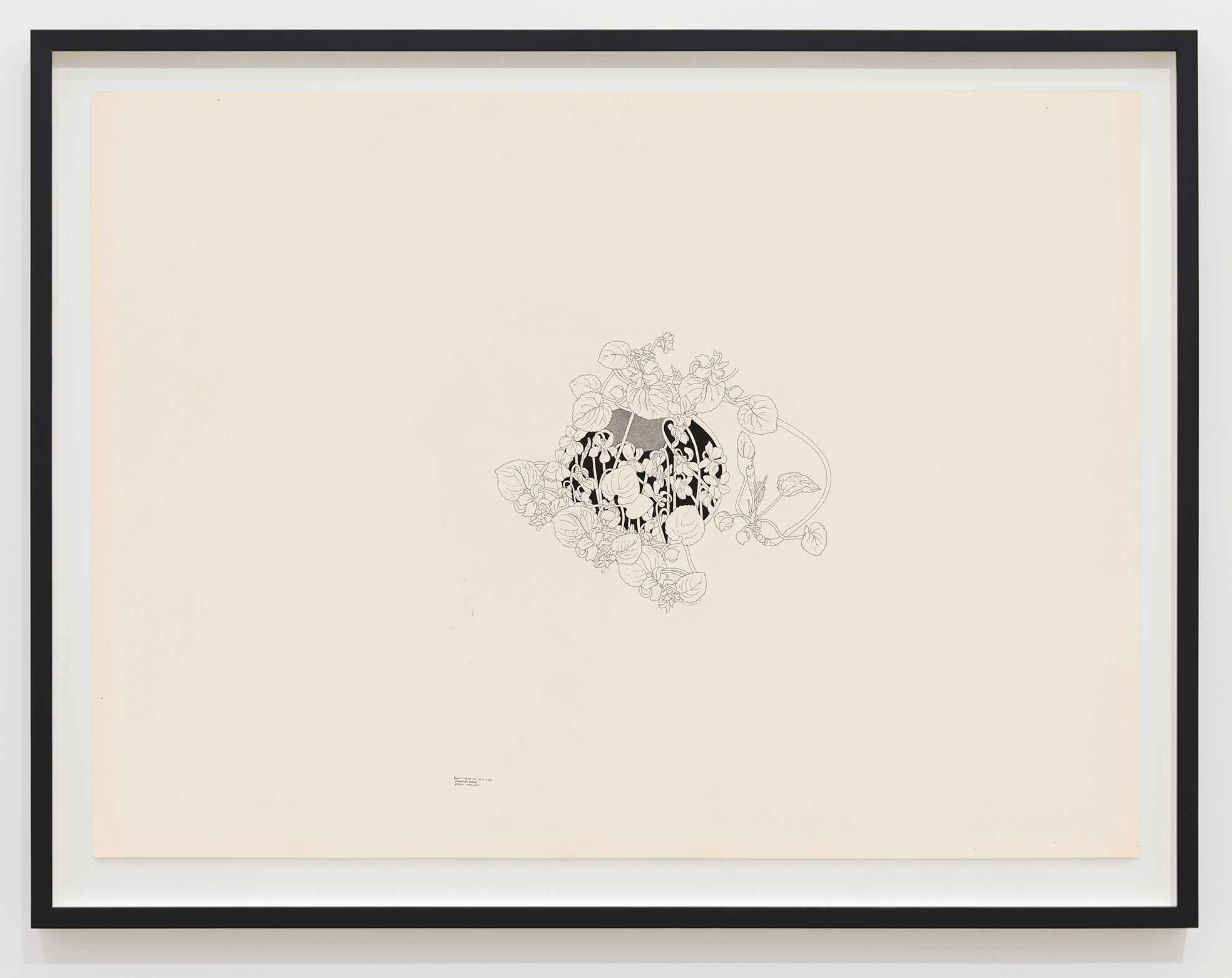 Charmian Johnson, not titled, c. 1978–80, ink on paper, 26 x 34 in. (65 x 85 cm) by