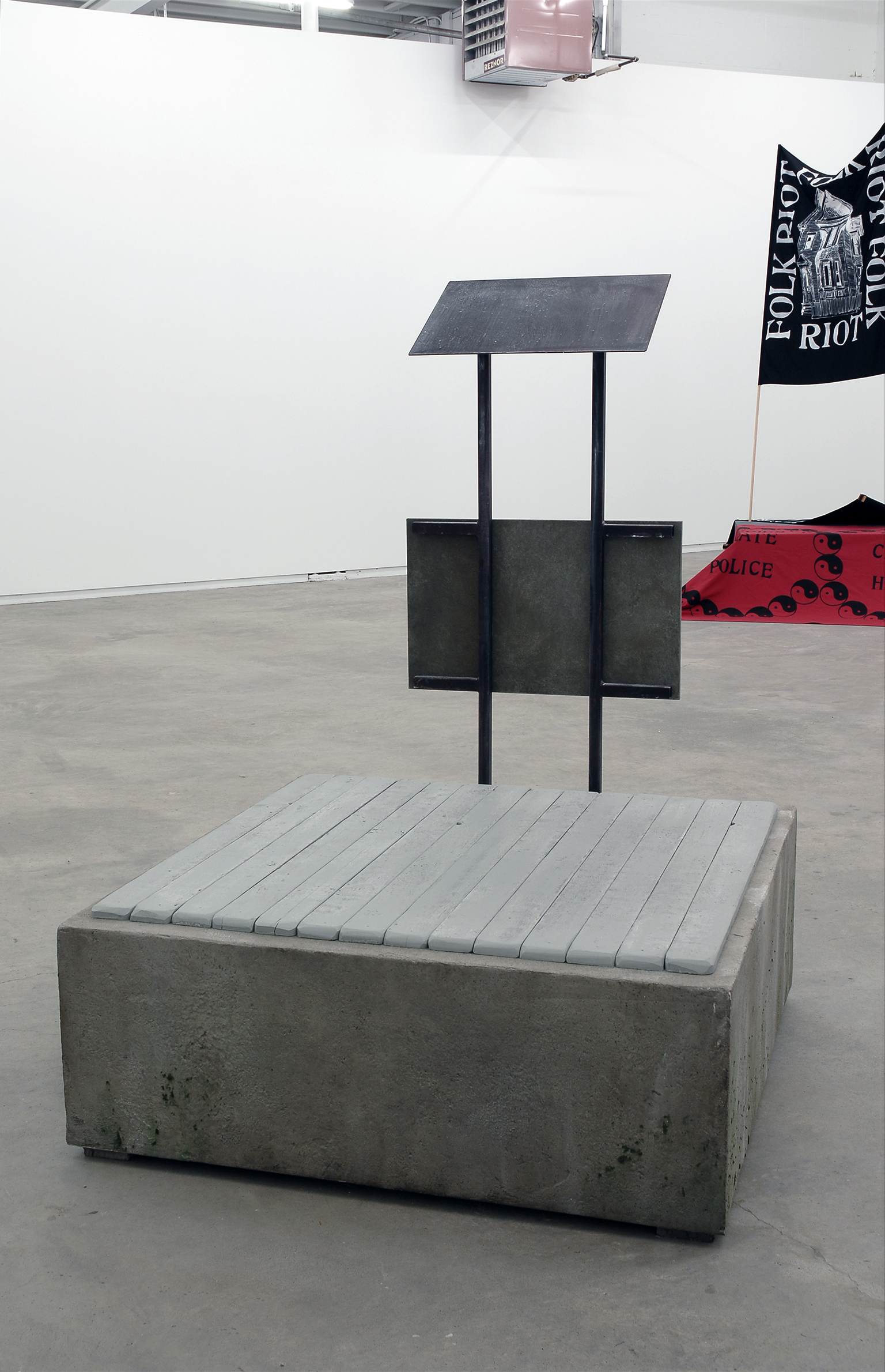 Alex Morrison, Provisional Structure, 2007, wood, drywall mud, angle iron, plastic, acrylic paint, 62 x 54 x 45 in. (158 x 137 x 114 cm) by