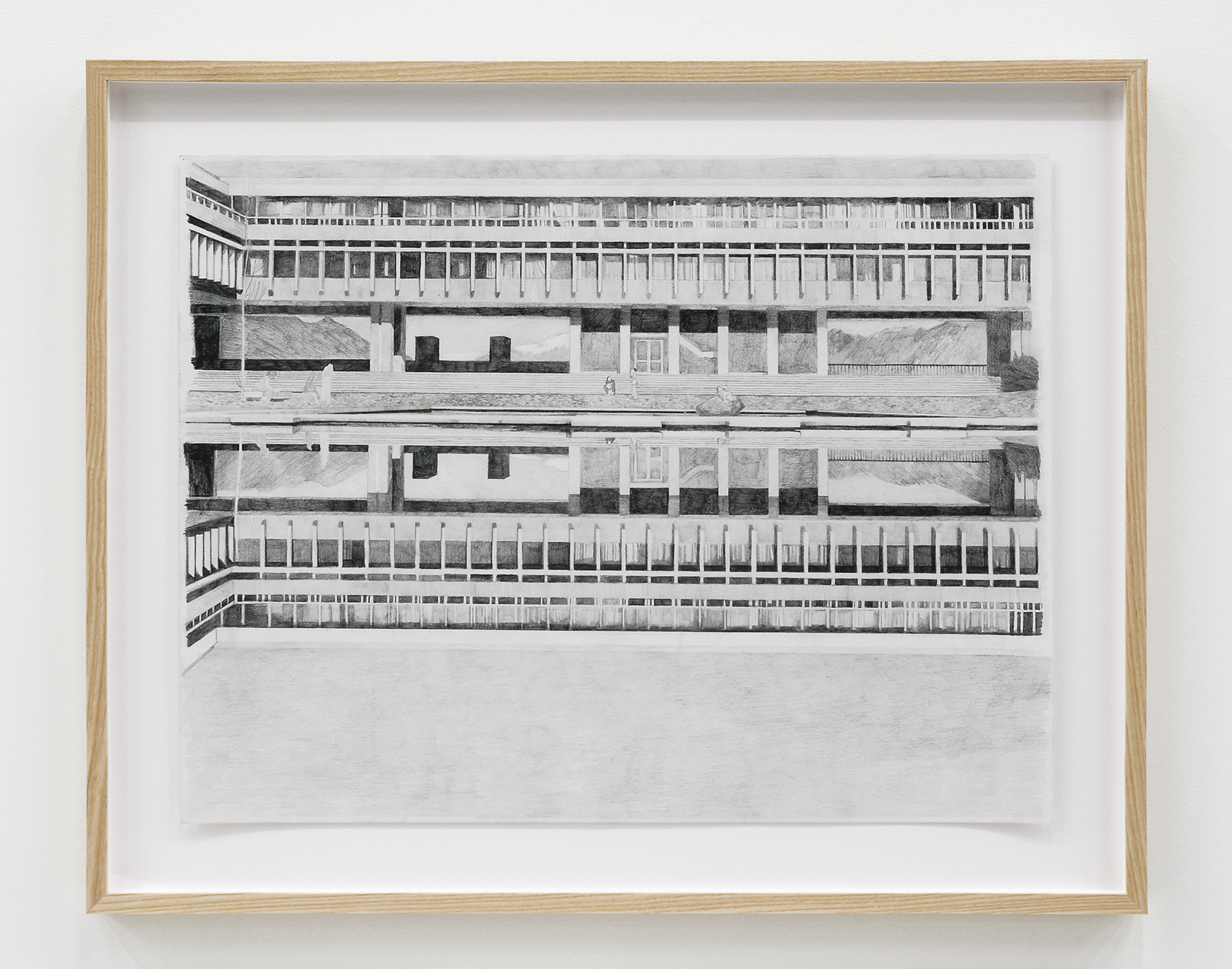Alex Morrison, The Poetics of Grey (No. 14), 2007, graphite on paper, 26 x 32 in. (65 x 80 cm) by