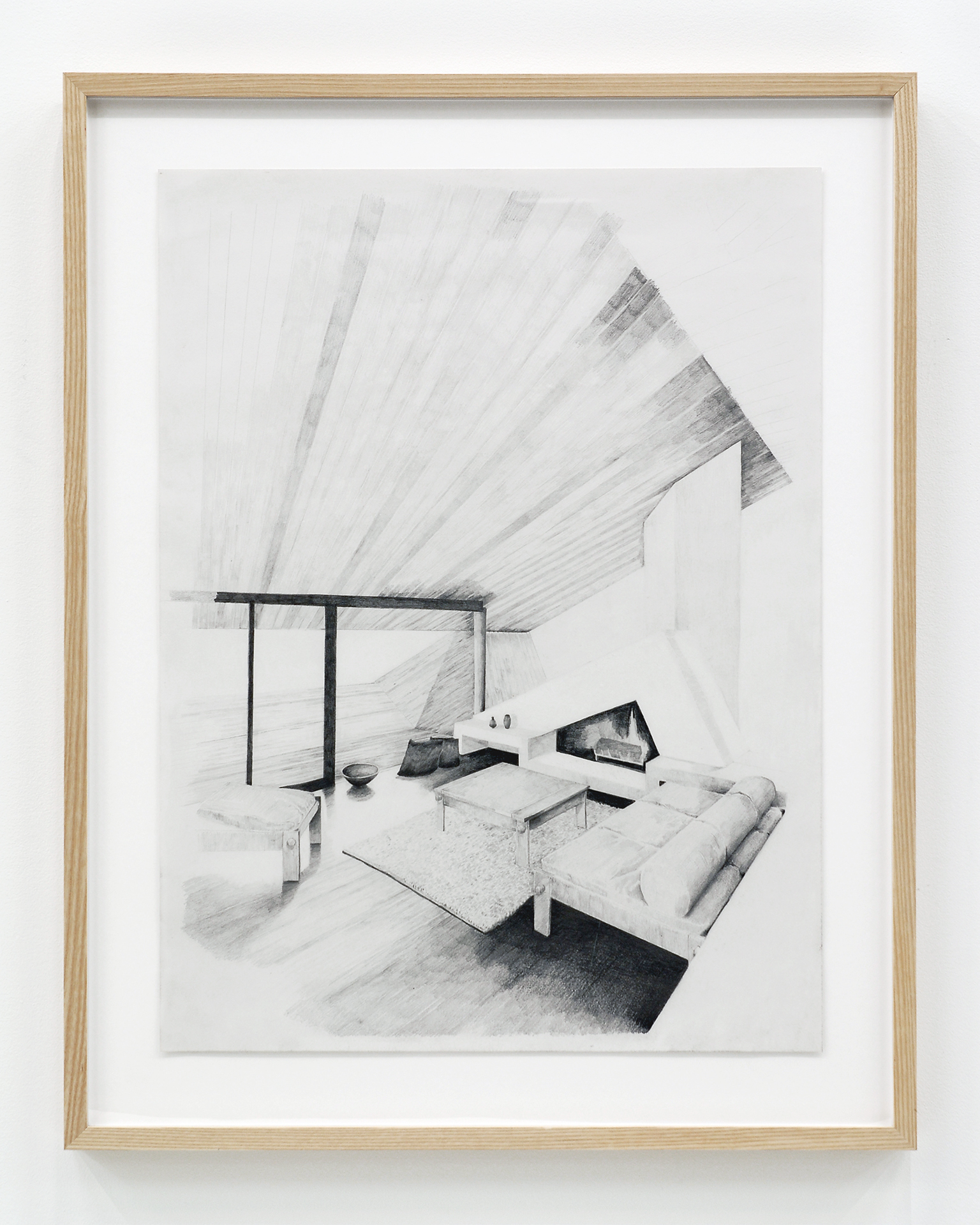 Alex Morrison, The Poetics of Grey (No. 5), 2007, graphite on paper, 29 x 23 in. (74 x 58 cm) by