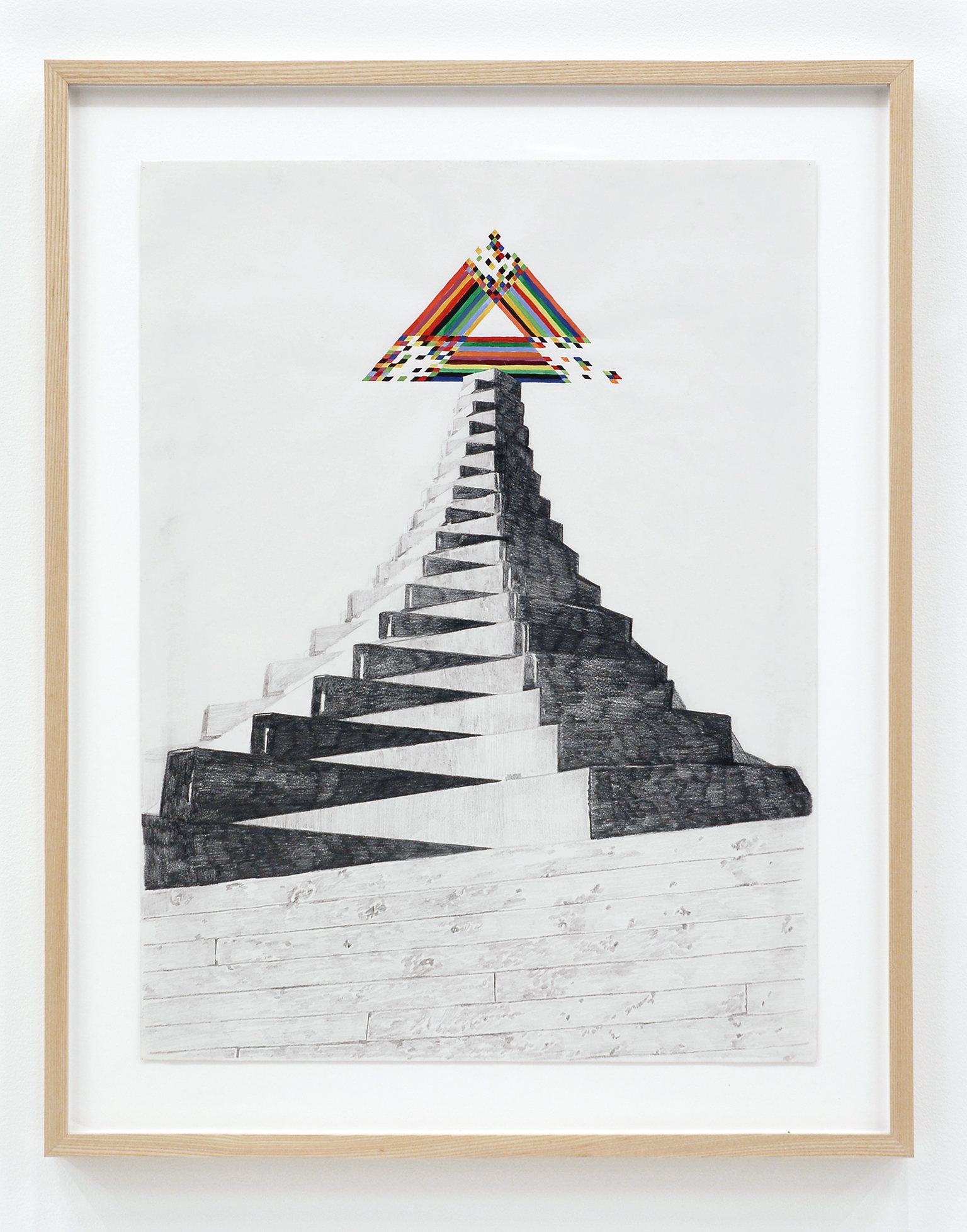 Alex Morrison, The Poetics of Grey (No. 6), 2007, graphite and coloured pencil on paper, 29 x 23 in. (73 x 58 cm) by