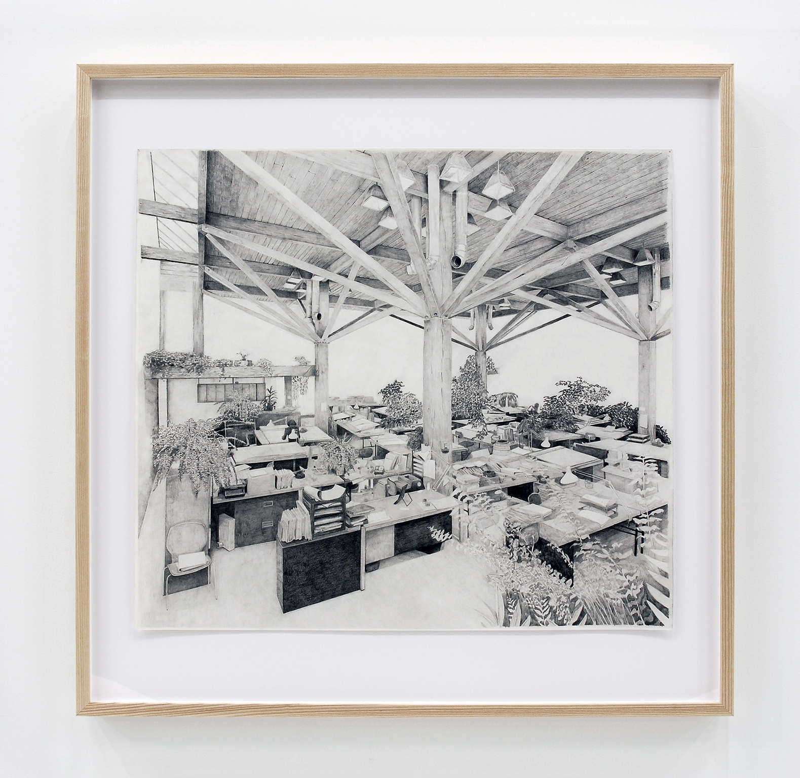 Alex Morrison, The Poetics of Grey (No. 9), 2007, graphite on paper, 39 x 40 in. (100 x 100 cm) by