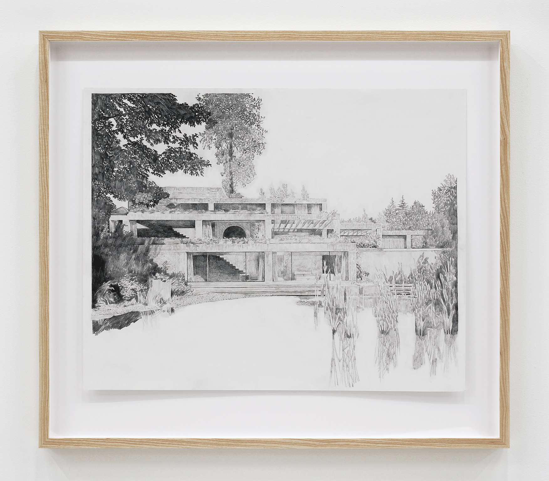 Alex Morrison, The Poetics of Grey (No. 13), 2007, graphite on paper, 26 x 29 in. (65 x 72 cm) by