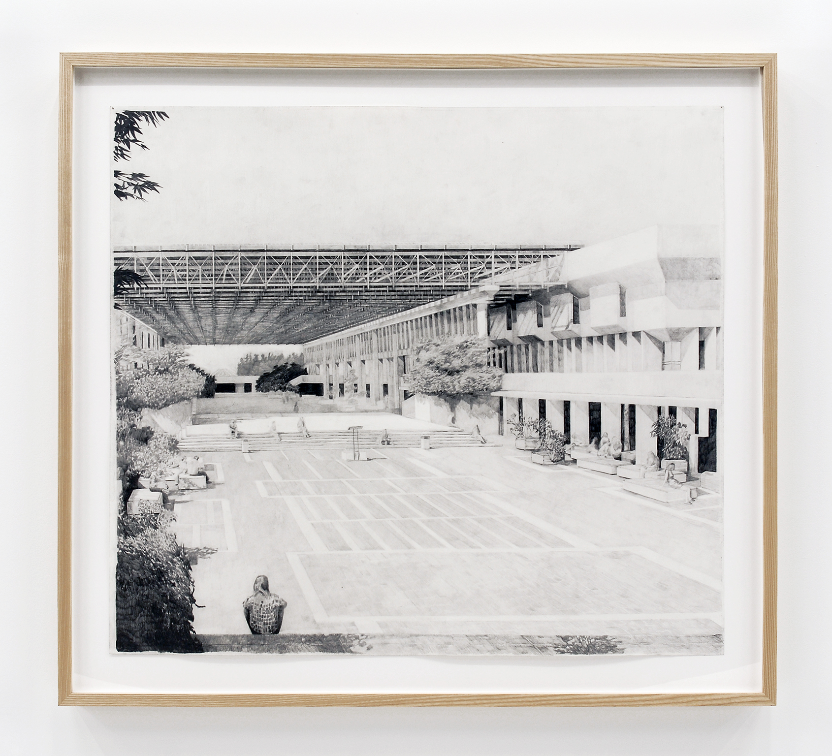 Alex Morrison, The Poetics of Grey (No. 4), 2007, graphite on paper, 40 x 44 in. (102 x 112 cm) by