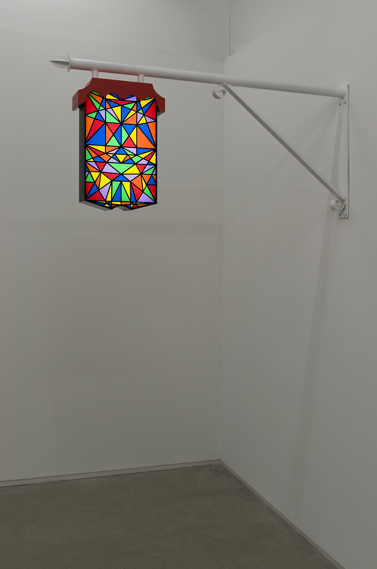 Alex Morrison, A Light in Town, 2010, metal, perspex and LED lighting system, 61 x 6 x 69 in. (155 x 15 x 174 cm) by