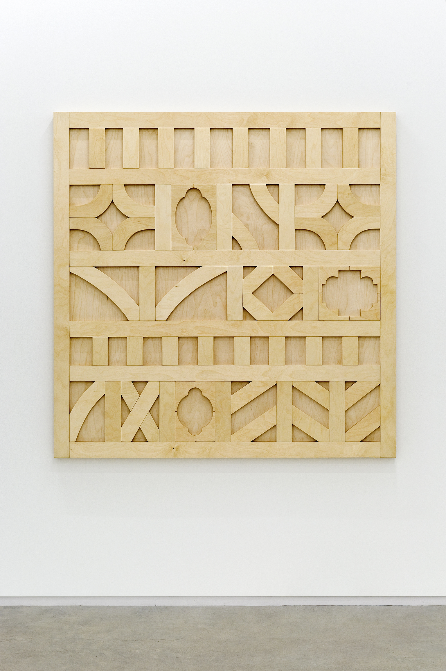 ​Alex Morrison, New Olde, 2011, baltic plywood, 60 x 60 x 2 1/4 in. (152 x 152 x 6 cm) by