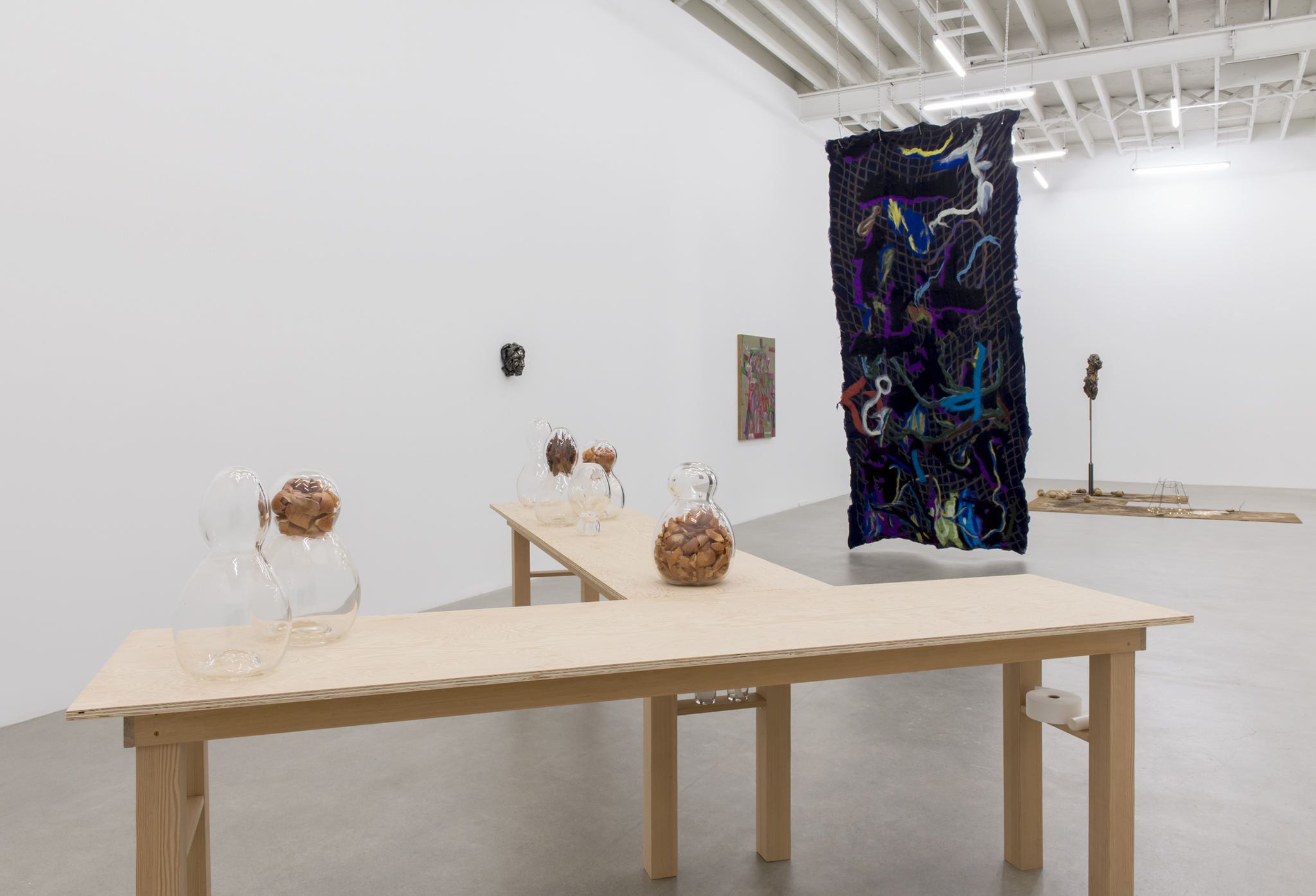 ​Rebecca Brewer, Rochelle Goldberg, Charmian Johnson, Christina Mackie, installation view, ​Nature​, Catriona Jeffries, Vancouver, 2018 by