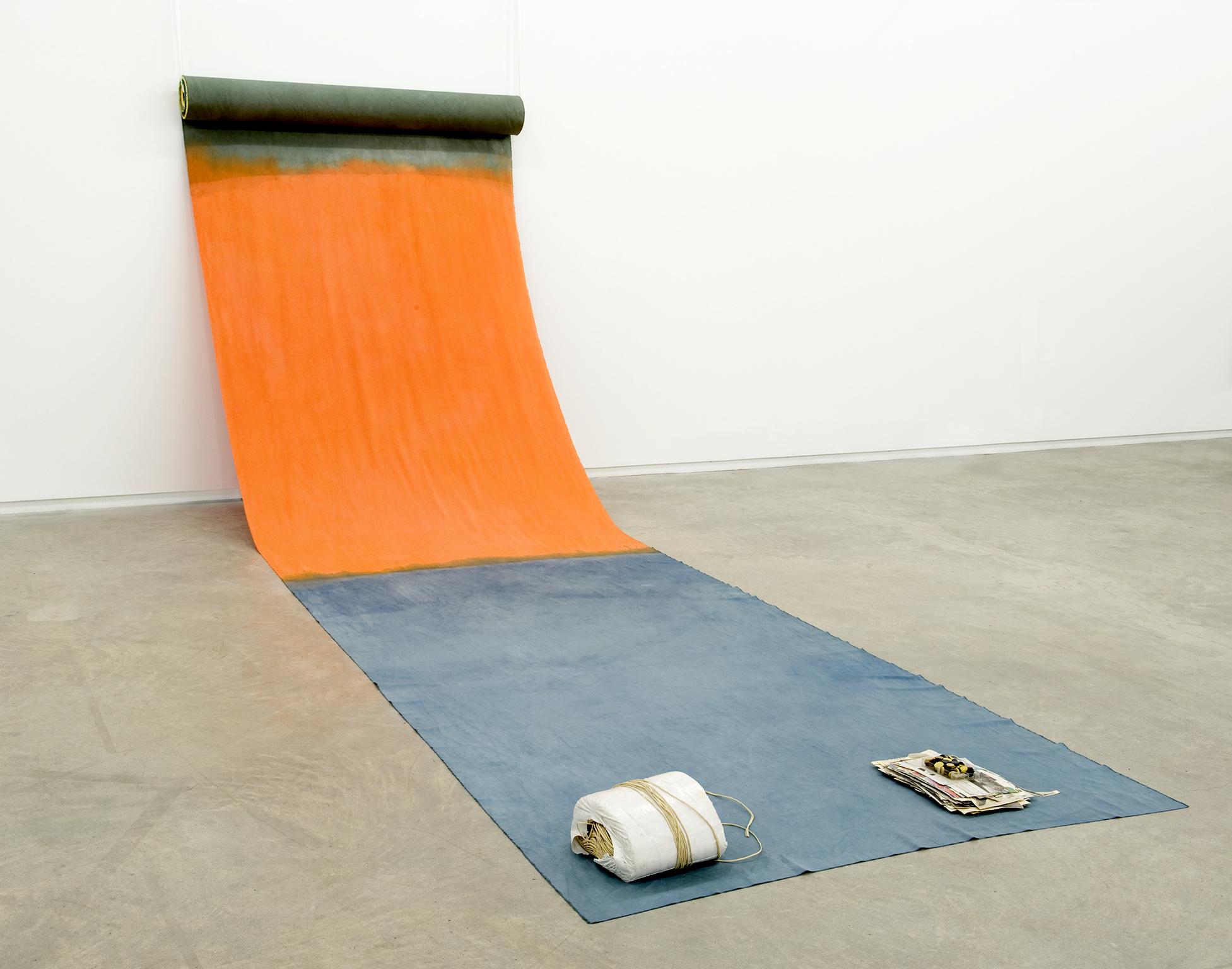 Ulla von Brandenburg, Das Versteck des R.M. (The hiding of R.M.), 2011, mixed media, dimensions variable by