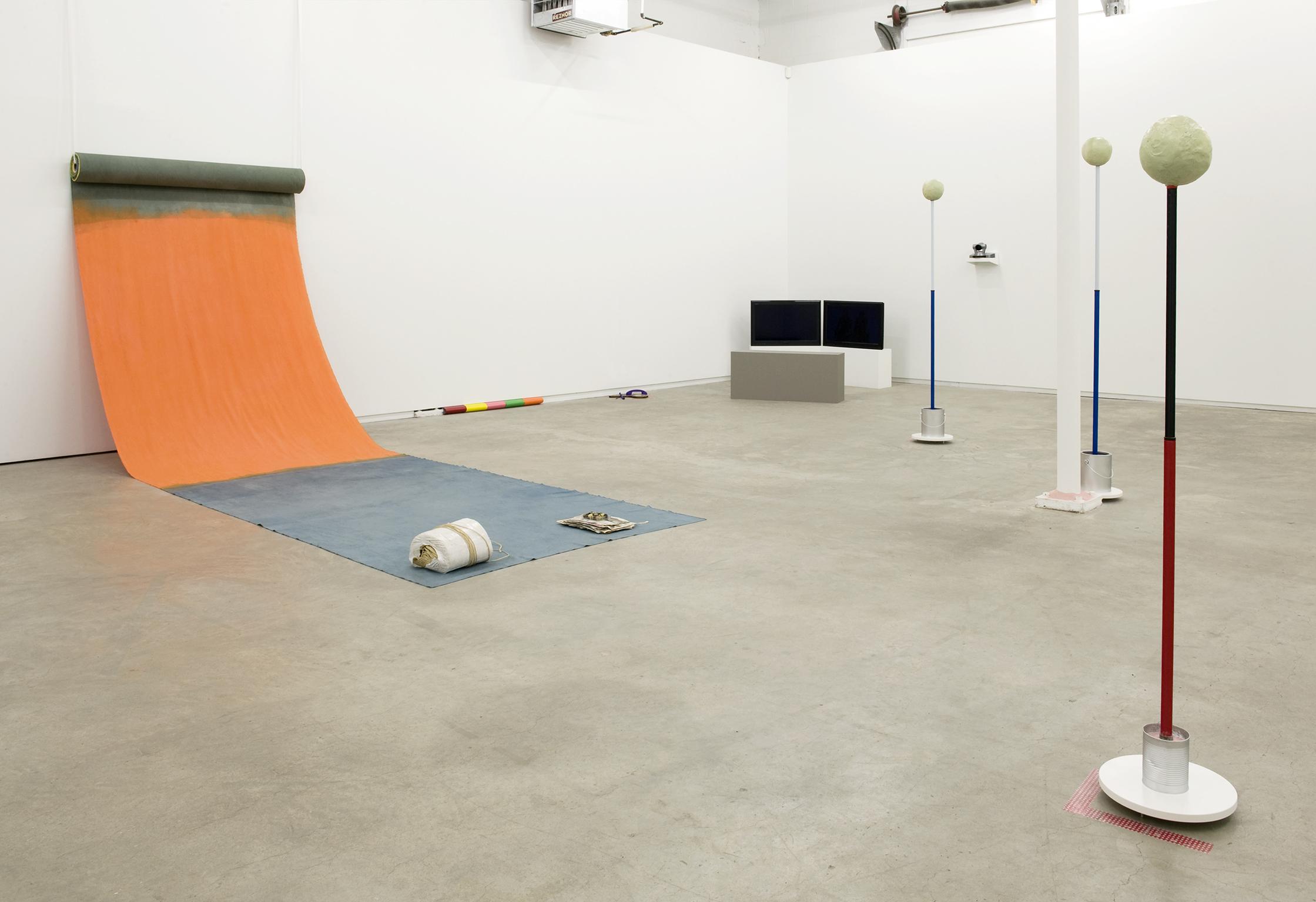 Ulla von Brandenburg, Guy de Cointet, Geoffrey Farmer, Janice Kerbel, Daria Martin, Judy Radul, installation view, People Things Enter Exit, 2011 by