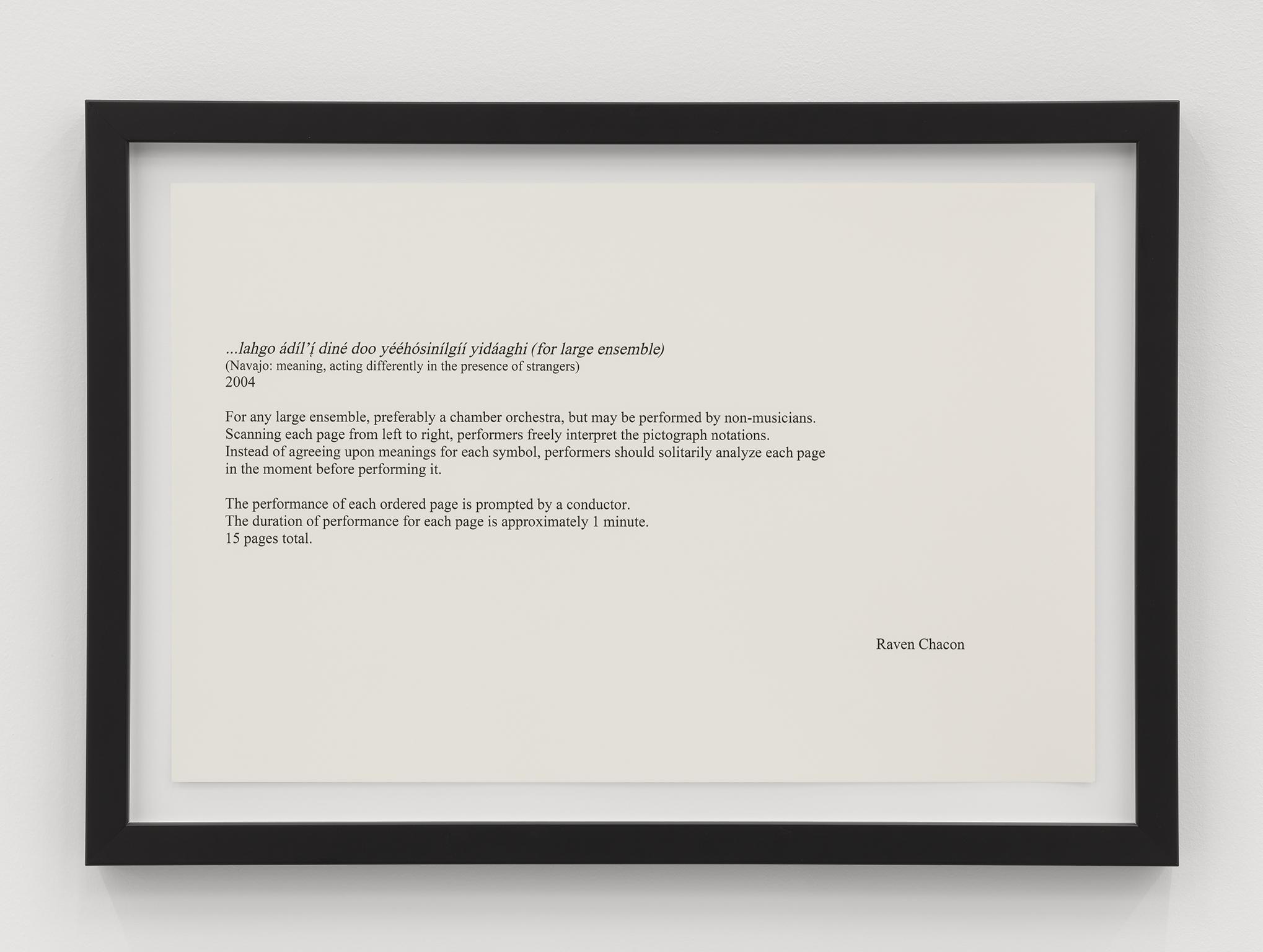 Raven Chacon, …lahgo adil'i dine doo yeehosinilgii yidaaghi, 2004, 16 inkjet prints, each 14 x 20 in. (36 x 51 cm) by