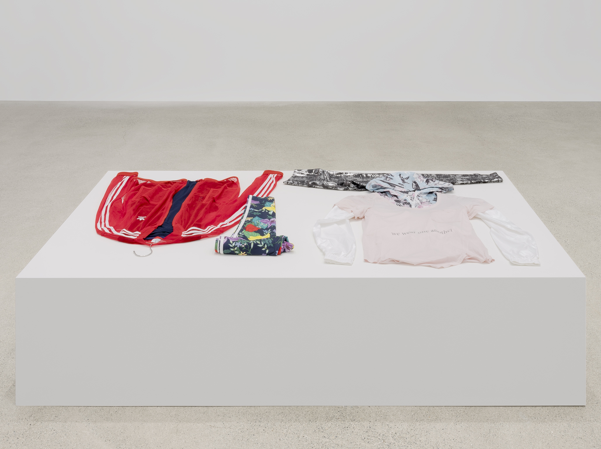​Tanya Lukin Linklater, We wear one another, 2019, attire for performance, silkscreen, dimensions variable by