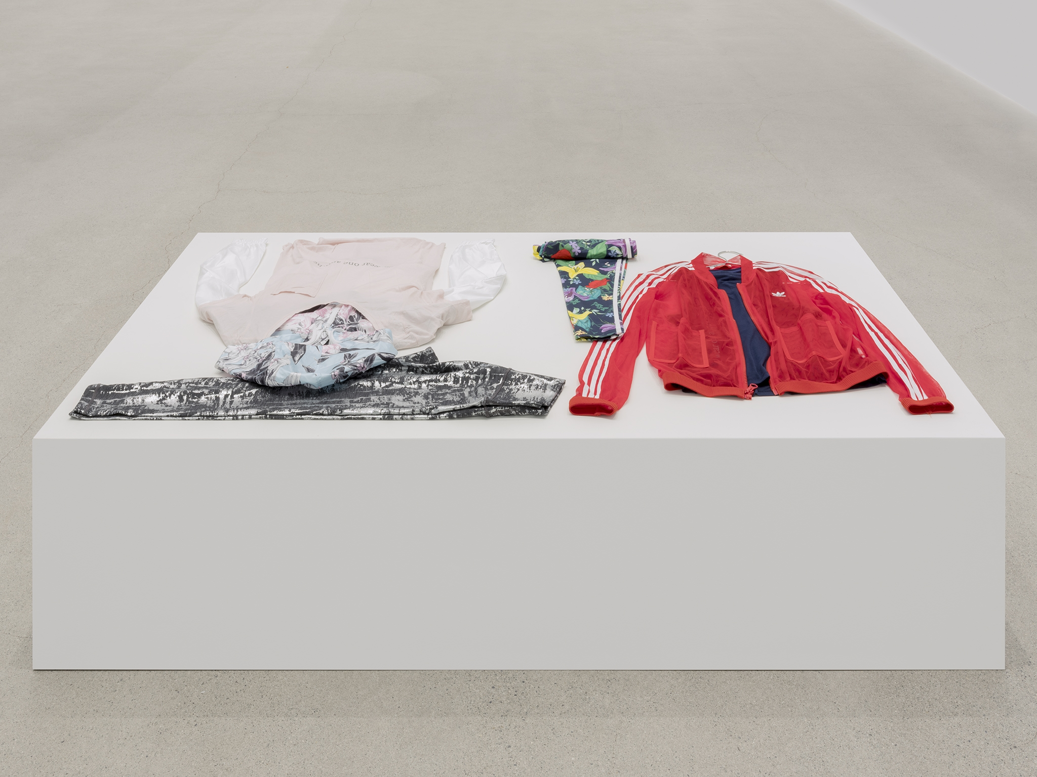 ​​Tanya Lukin Linklater, We wear one another, 2019, attire for performance, silkscreen, dimensions variable​ by
