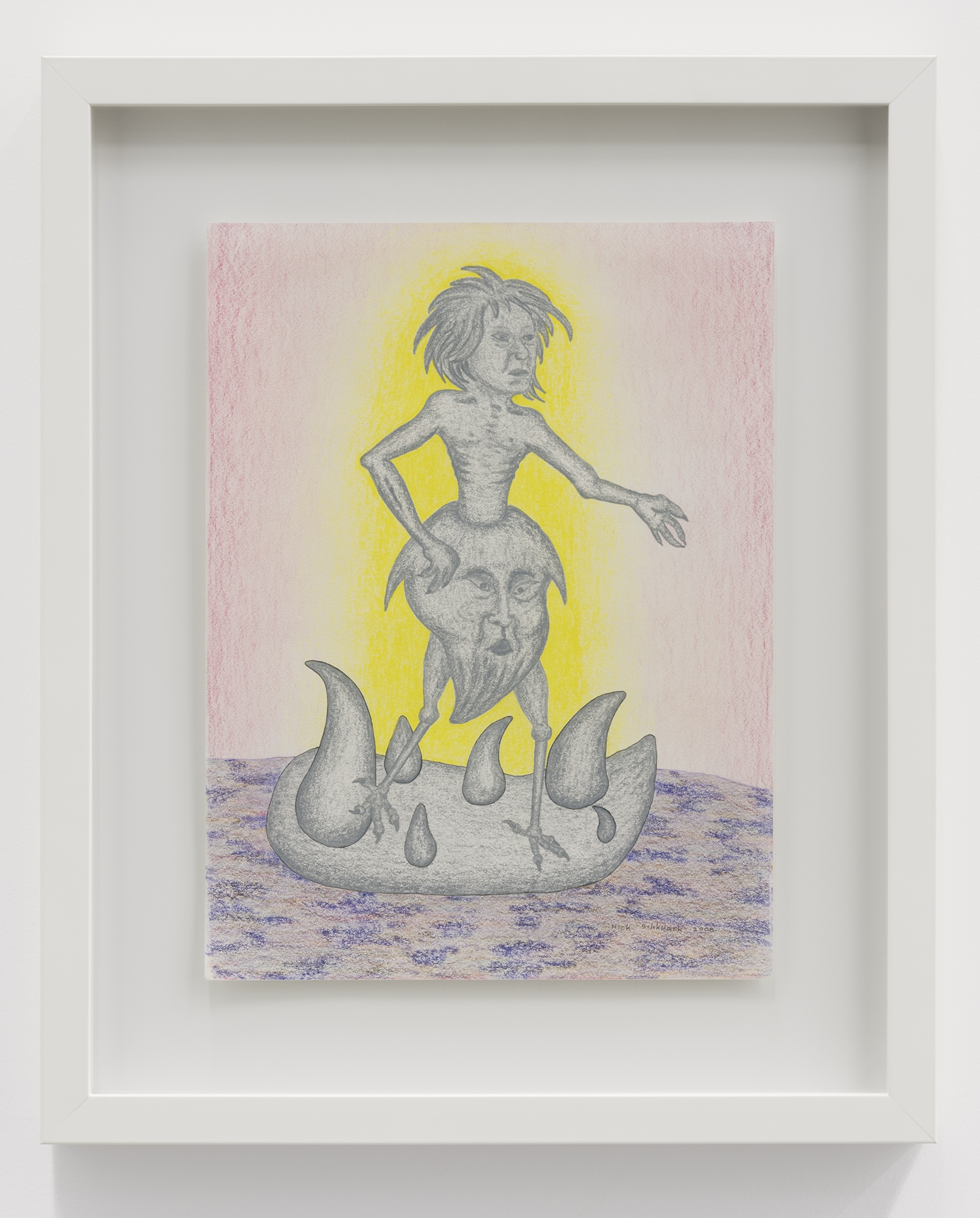 Nick Sikkuark, untitled (spirit), 2008, coloured pencil on paper, 16 x 12 in. (41 x 29 cm) by