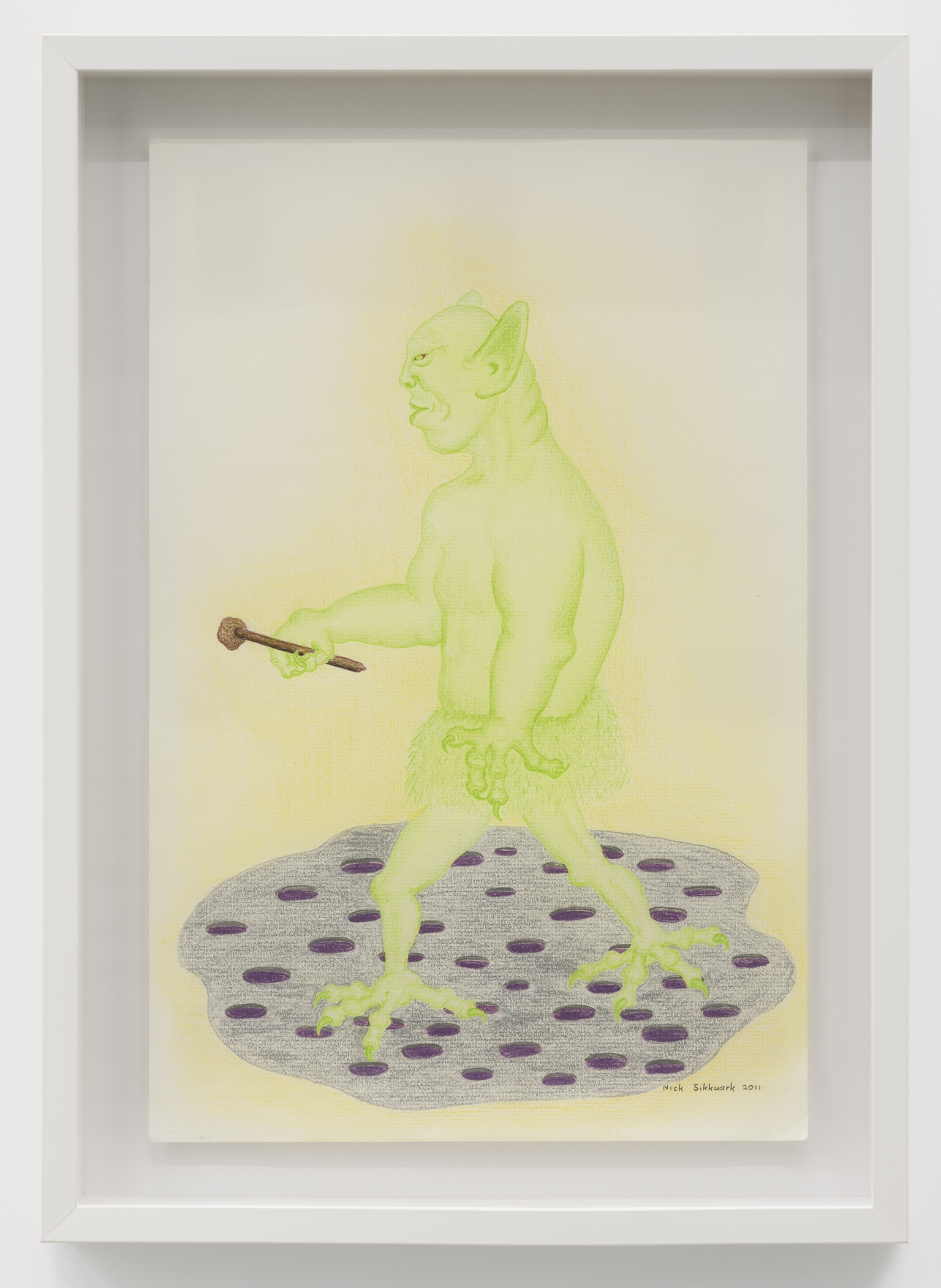 Nick Sikkuark, untitled, 2011, coloured pencil on paper, 16 x 12 in. (41 x 29 cm) by