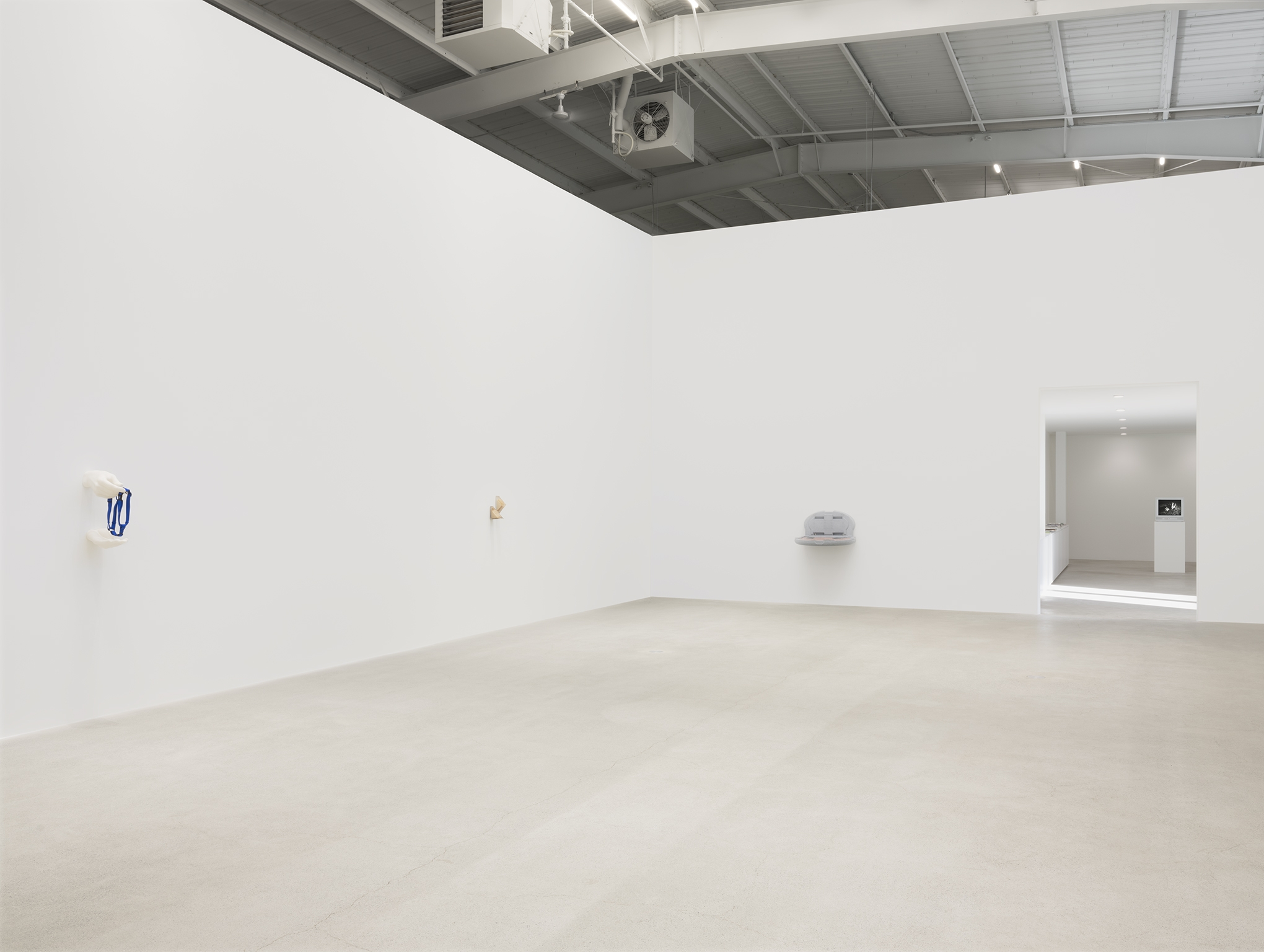 Chris Burden, ​Alex Frost, Myfanwy MacLeod, Nicole Wermers, installation view, Unexplained Parade, Catriona Jeffries, Vancouver, March 27, 2019​​ by