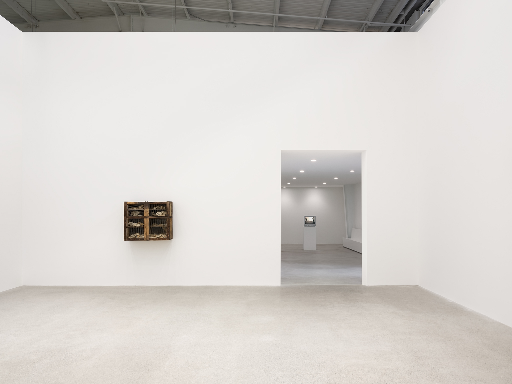 Chris Burden, Liz Magor, installation view, Unexplained Parade, Catriona Jeffries, Vancouver, March 9, 2019 by