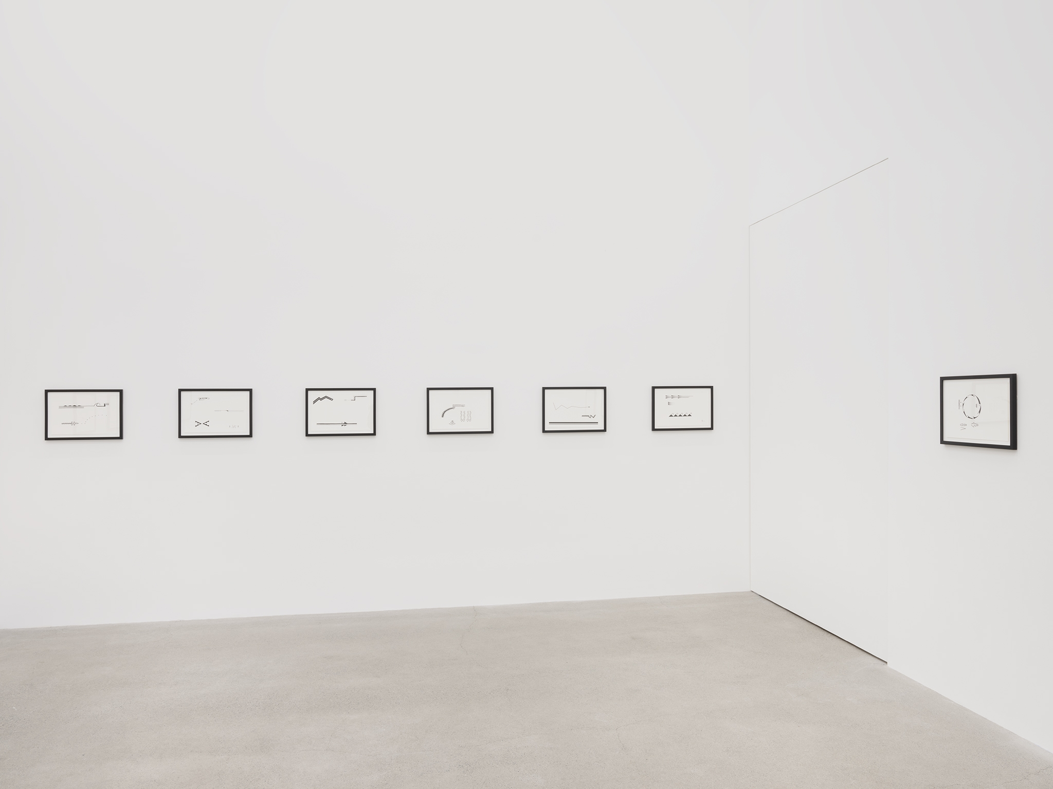 Raven Chacon, …lahgo adil'i dine doo yeehosinilgii yidaaghi, 2004, 16 inkjet prints, each 14 x 20 in. (36 x 51 cm). Installation view, Unexplained Parade, Catriona Jeffries, Vancouver, March 9, 2019 by