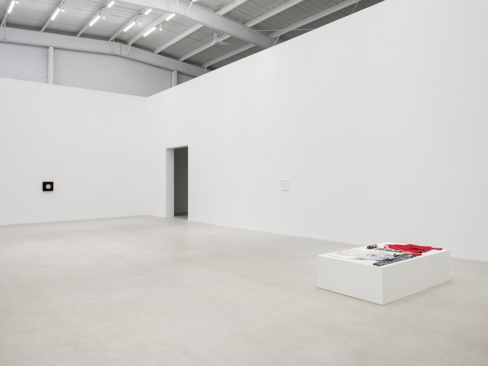 Marcel Duchamp, On Kawara, Tanya Lukin Linklater, installation view, Unexplained Parade, Catriona Jeffries, Vancouver, April 27, 2019